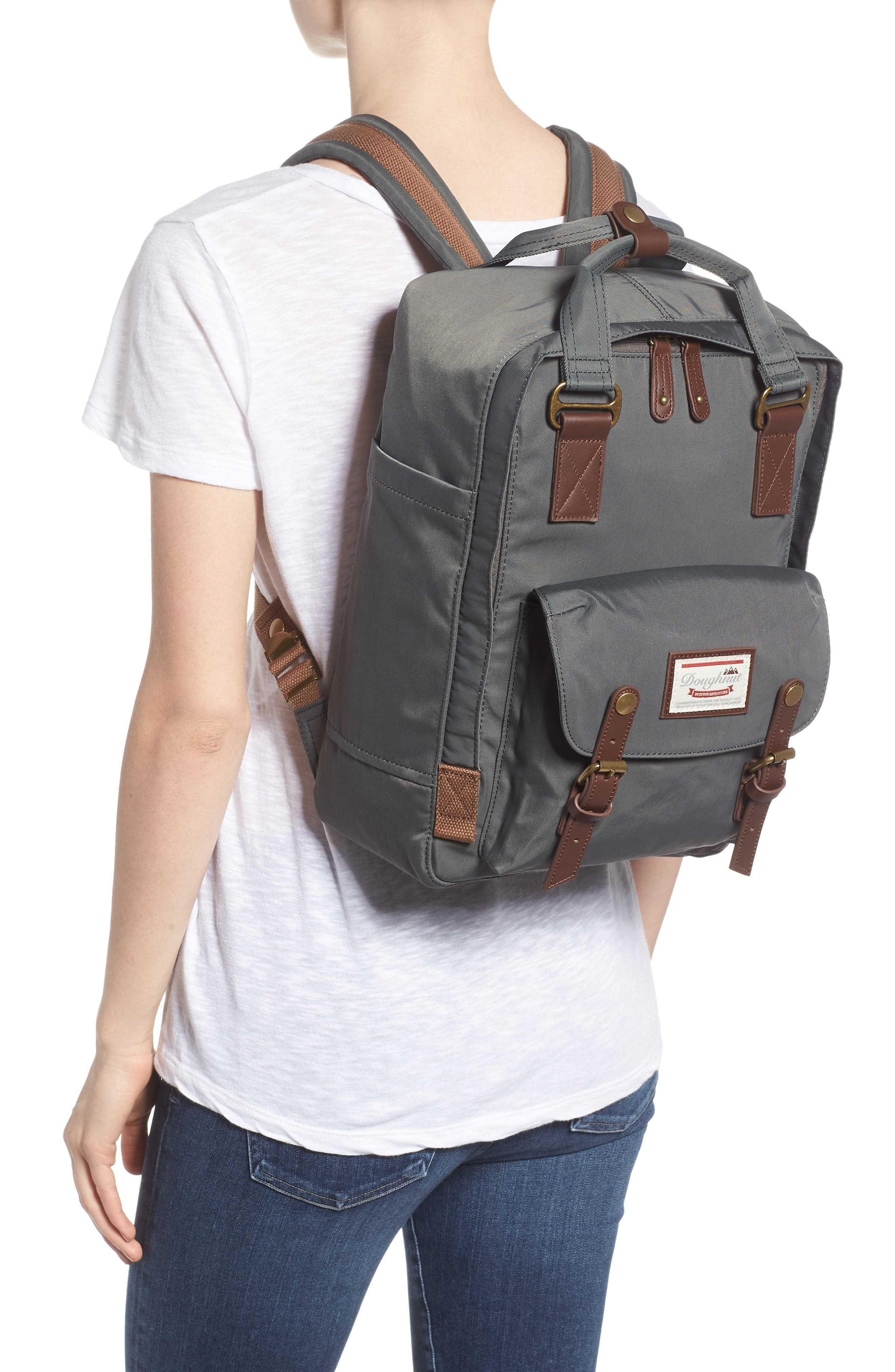 Macaroon Water Resistant Backpack,                             Alternate thumbnail 2, color,                             CHARCOAL