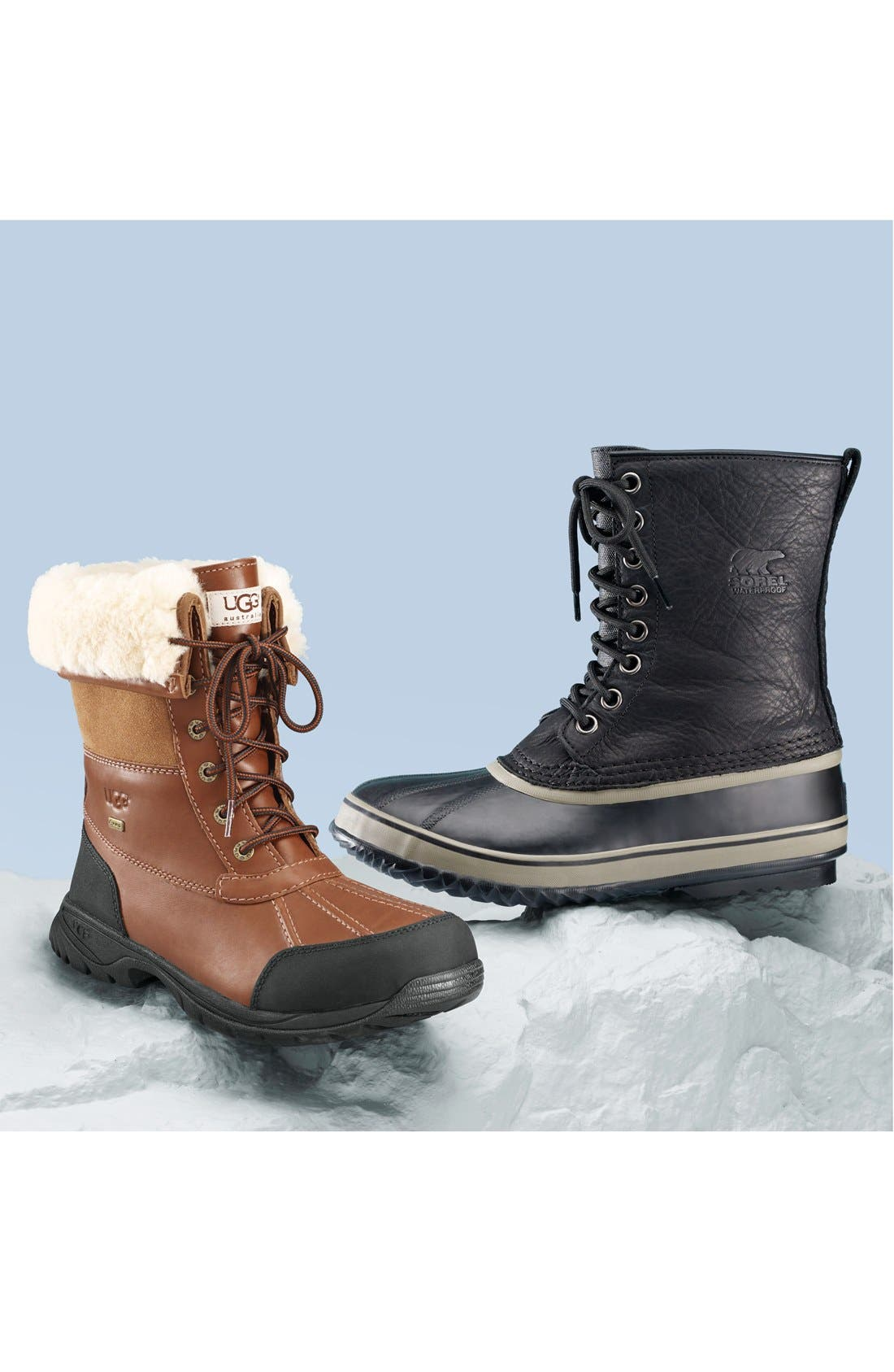 1964 Premium T Snow Waterproof Boot,                             Alternate thumbnail 7, color,                             BLACK LEATHER