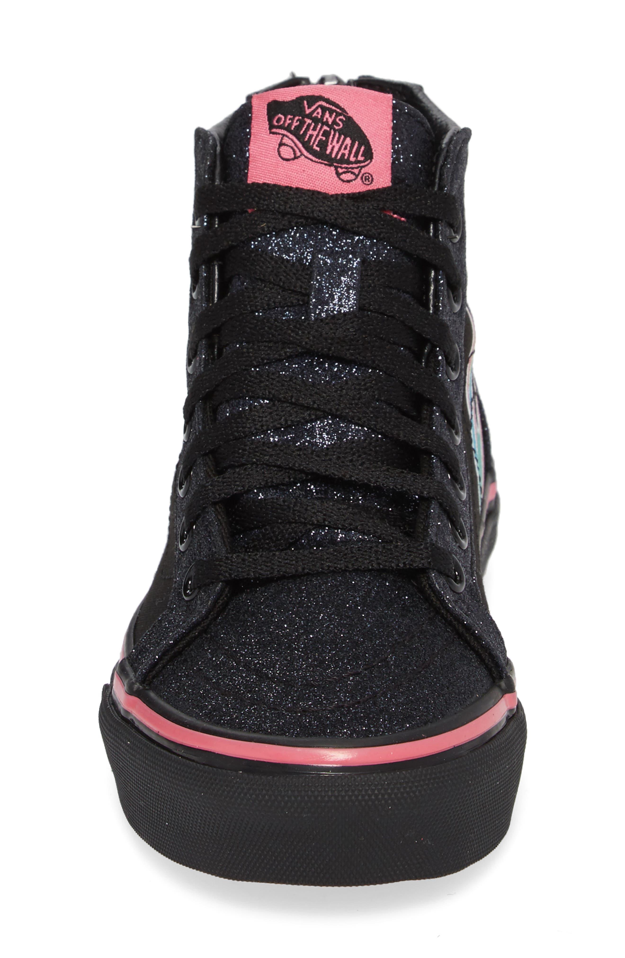 Sk8-Hi Zip Unicorn Glitter High Top Sneaker,                             Alternate thumbnail 7, color,