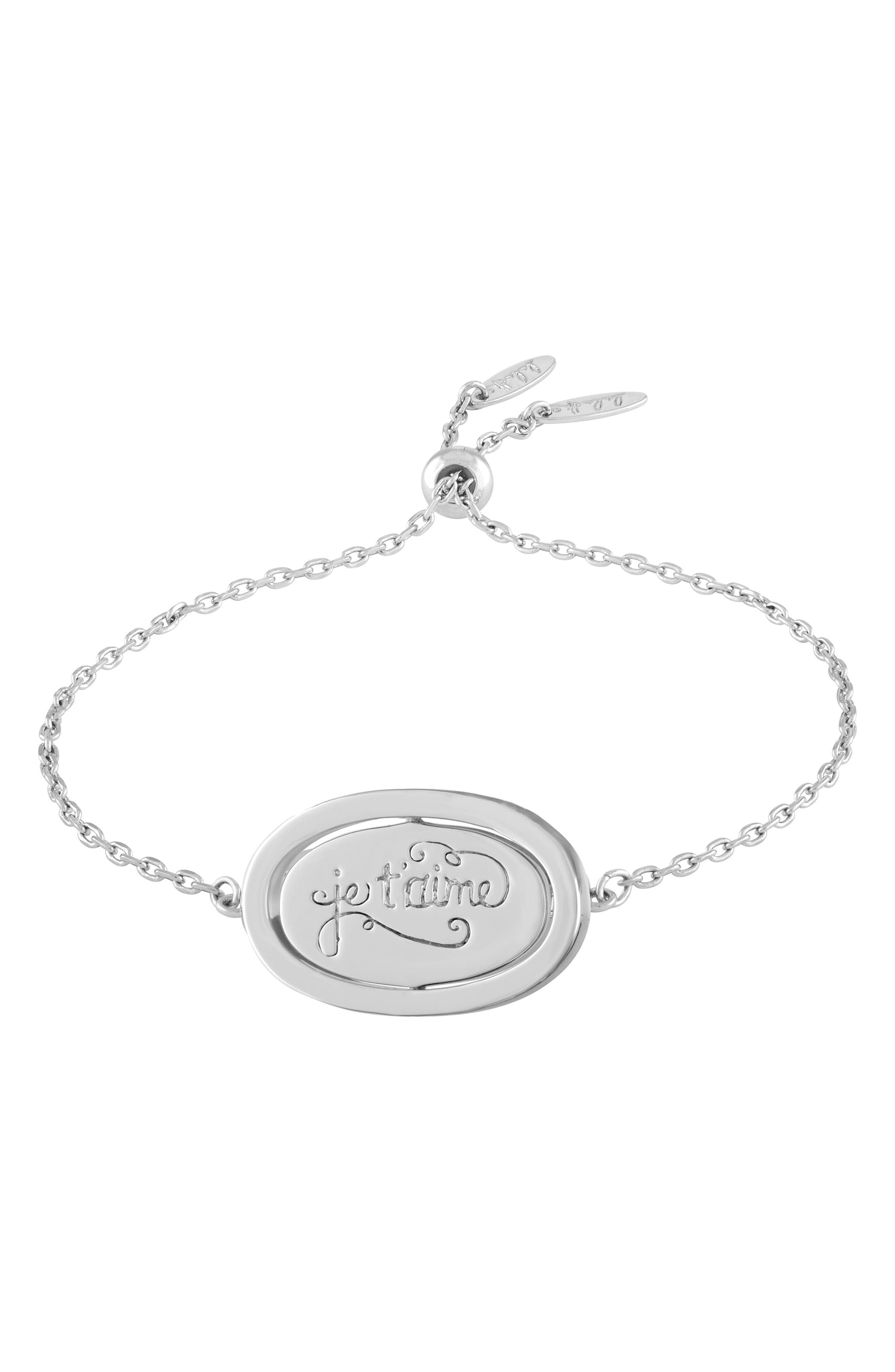 Love Letters Spinning Pendant Bracelet,                             Alternate thumbnail 4, color,                             041