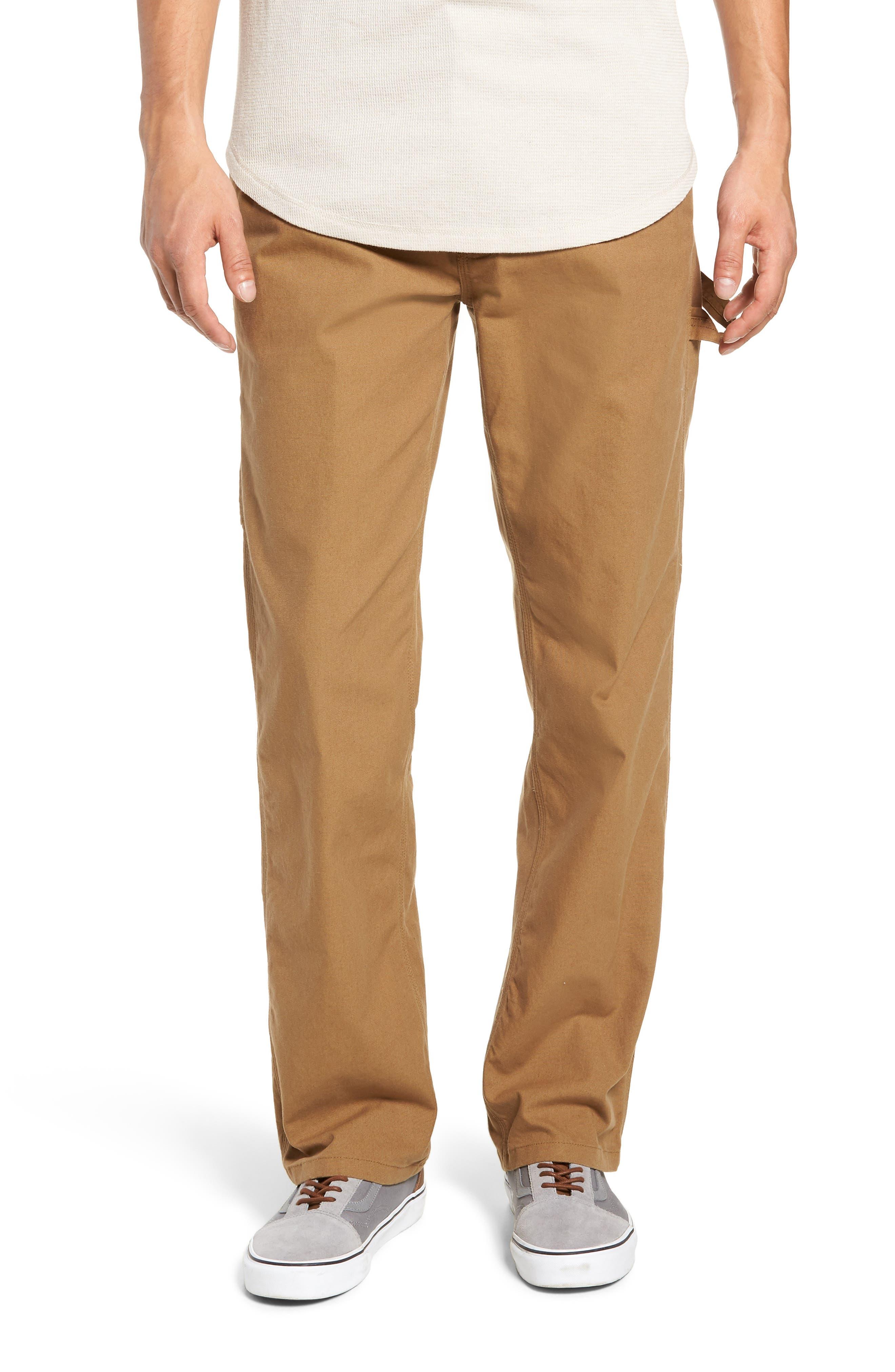 Hardware Straight Fit Carpenter Pants,                             Main thumbnail 1, color,                             DIRT
