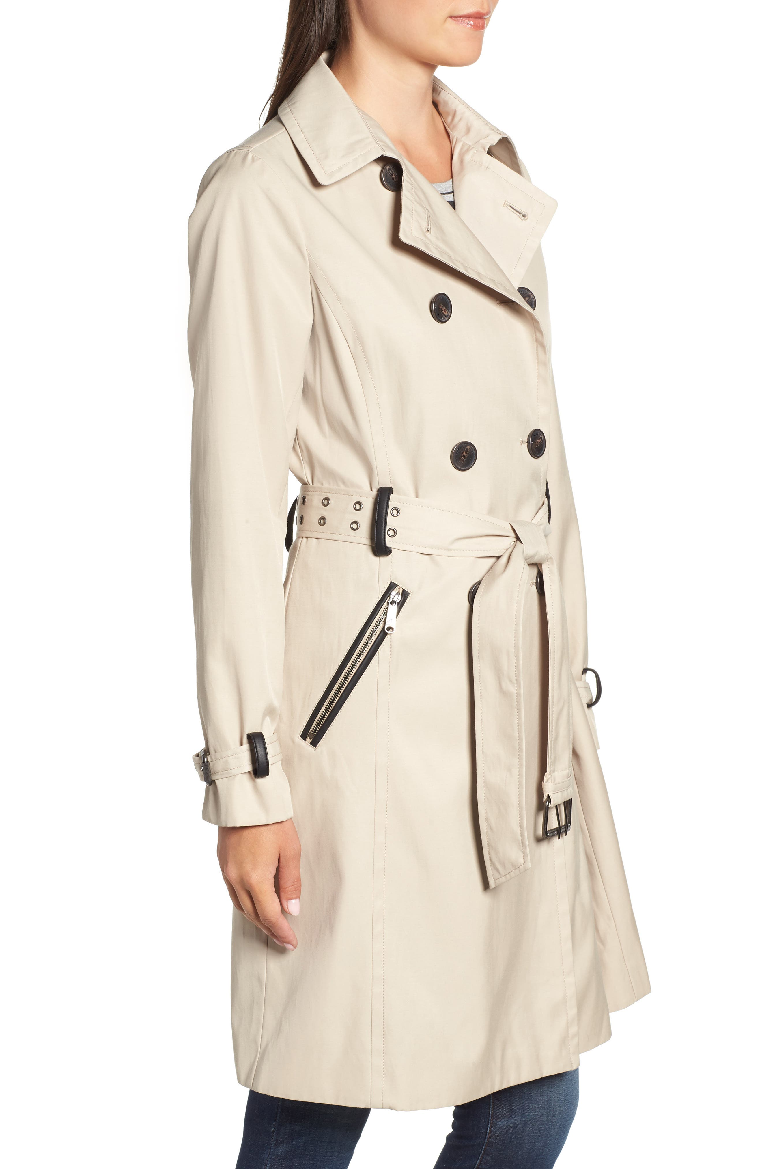 Packable Trench Coat,                             Alternate thumbnail 3, color,                             252