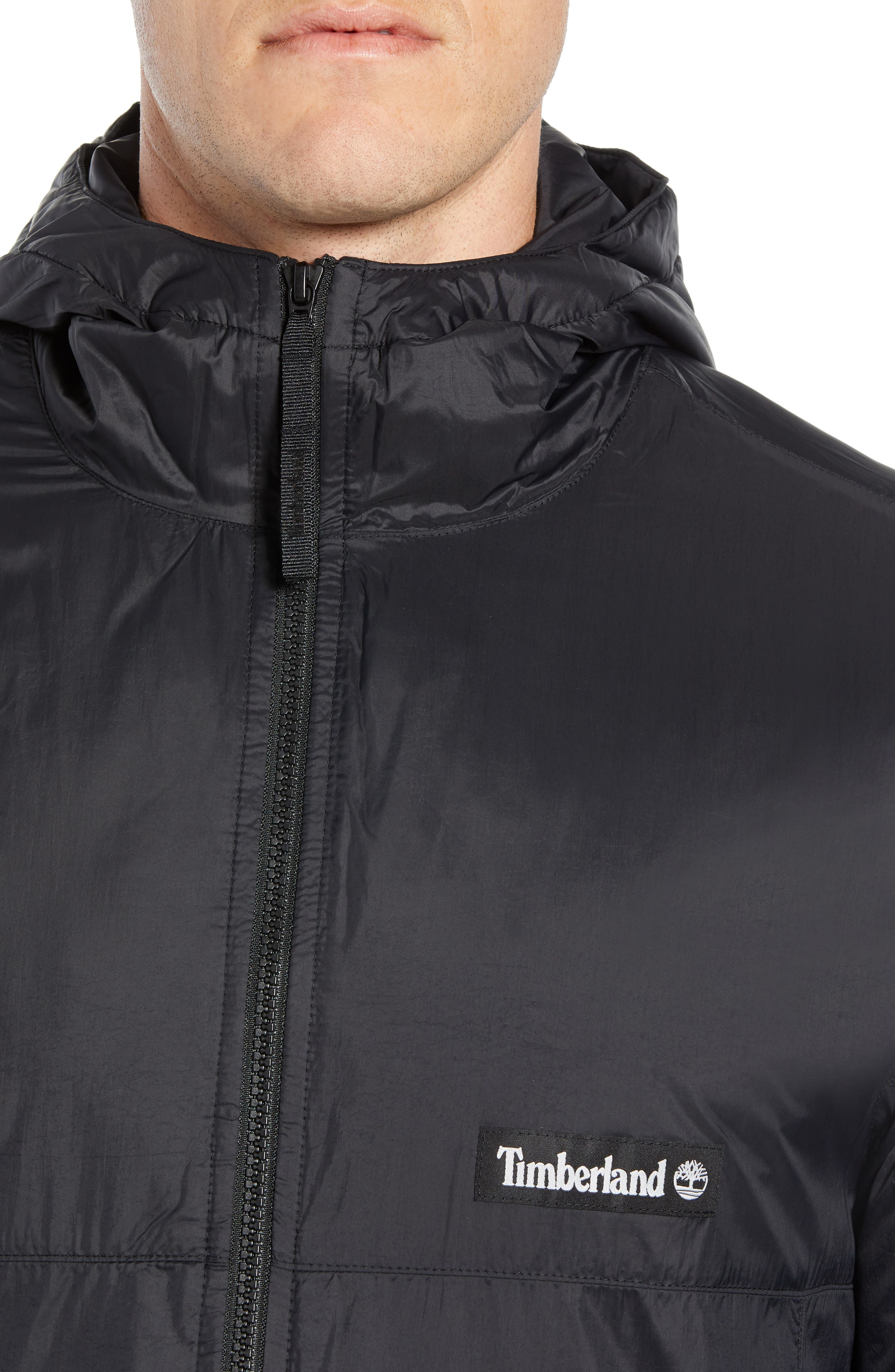 Water Resistant Insulated Coat,                             Alternate thumbnail 4, color,                             BLACK