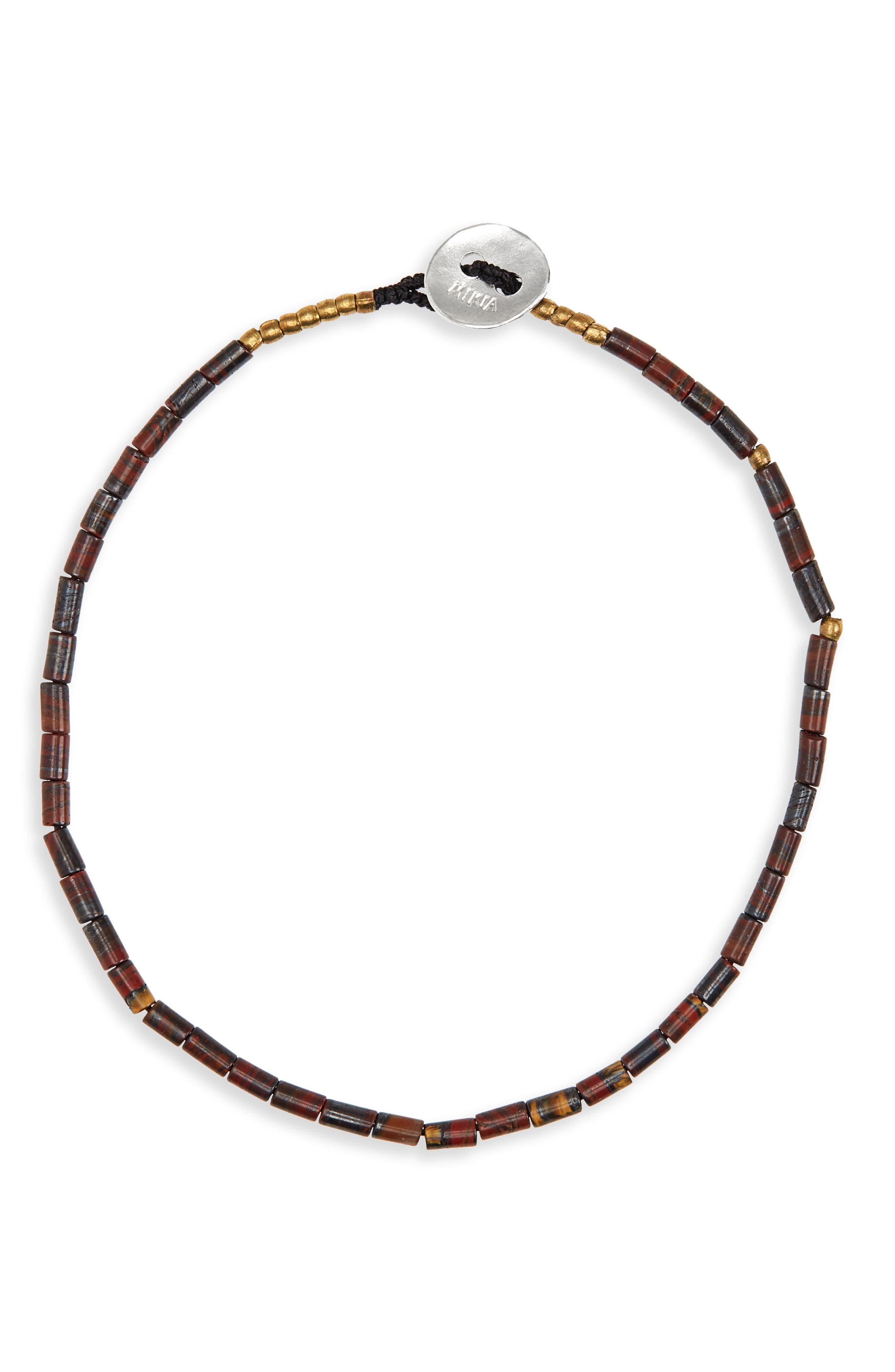 Stone Bead Bracelet,                             Main thumbnail 1, color,                             001