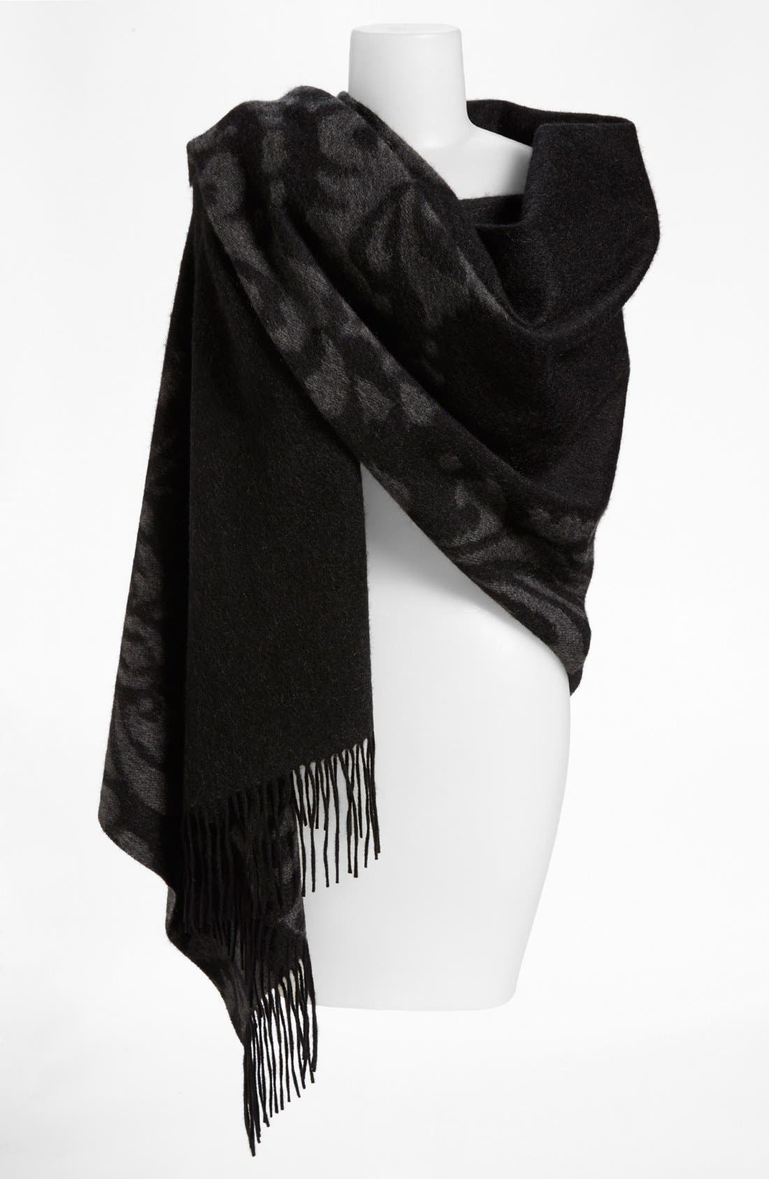 'Scroll' Woven Cashmere Wrap,                         Main,                         color, 020