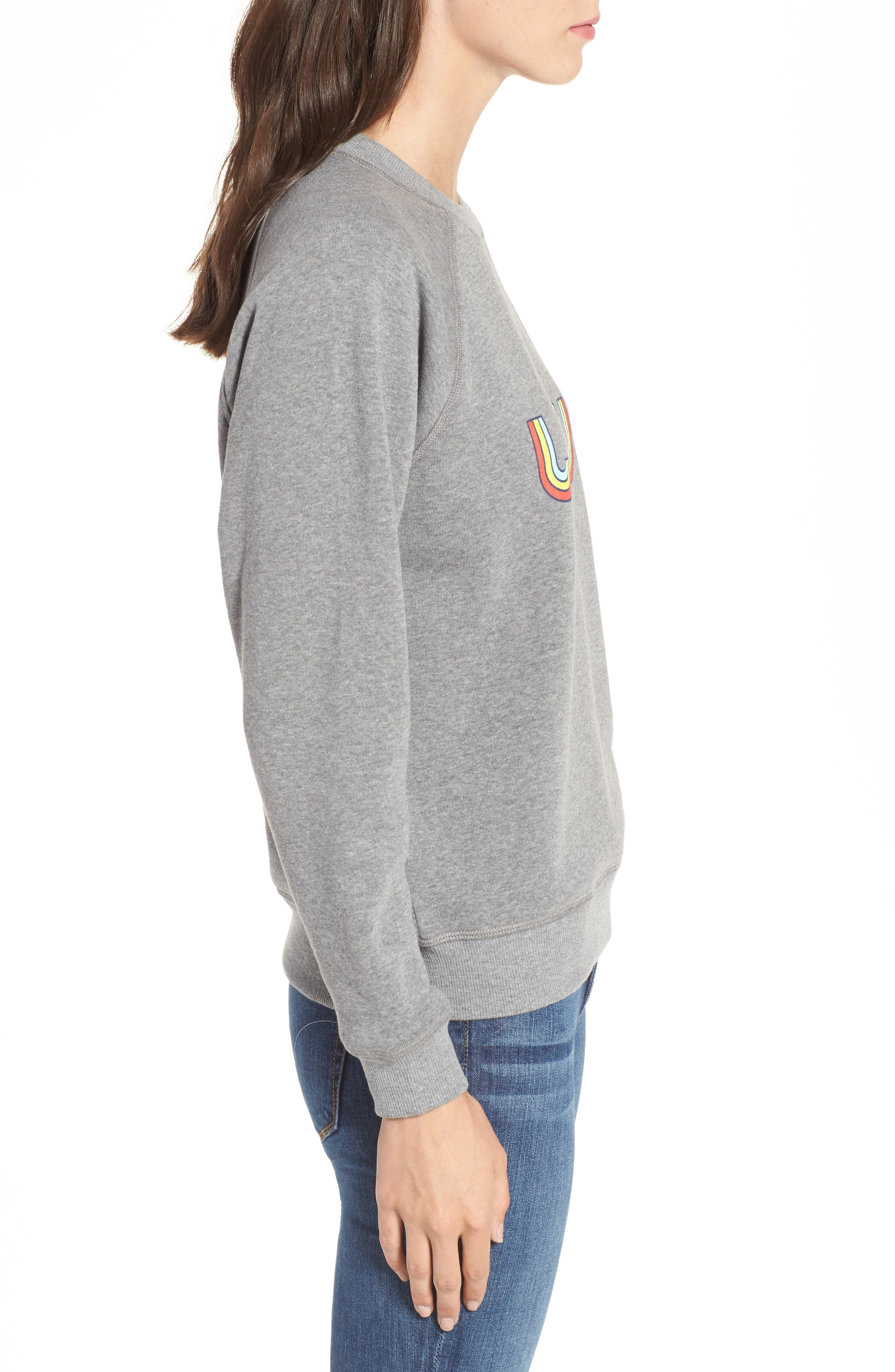 Love Sweatshirt,                             Alternate thumbnail 3, color,                             030