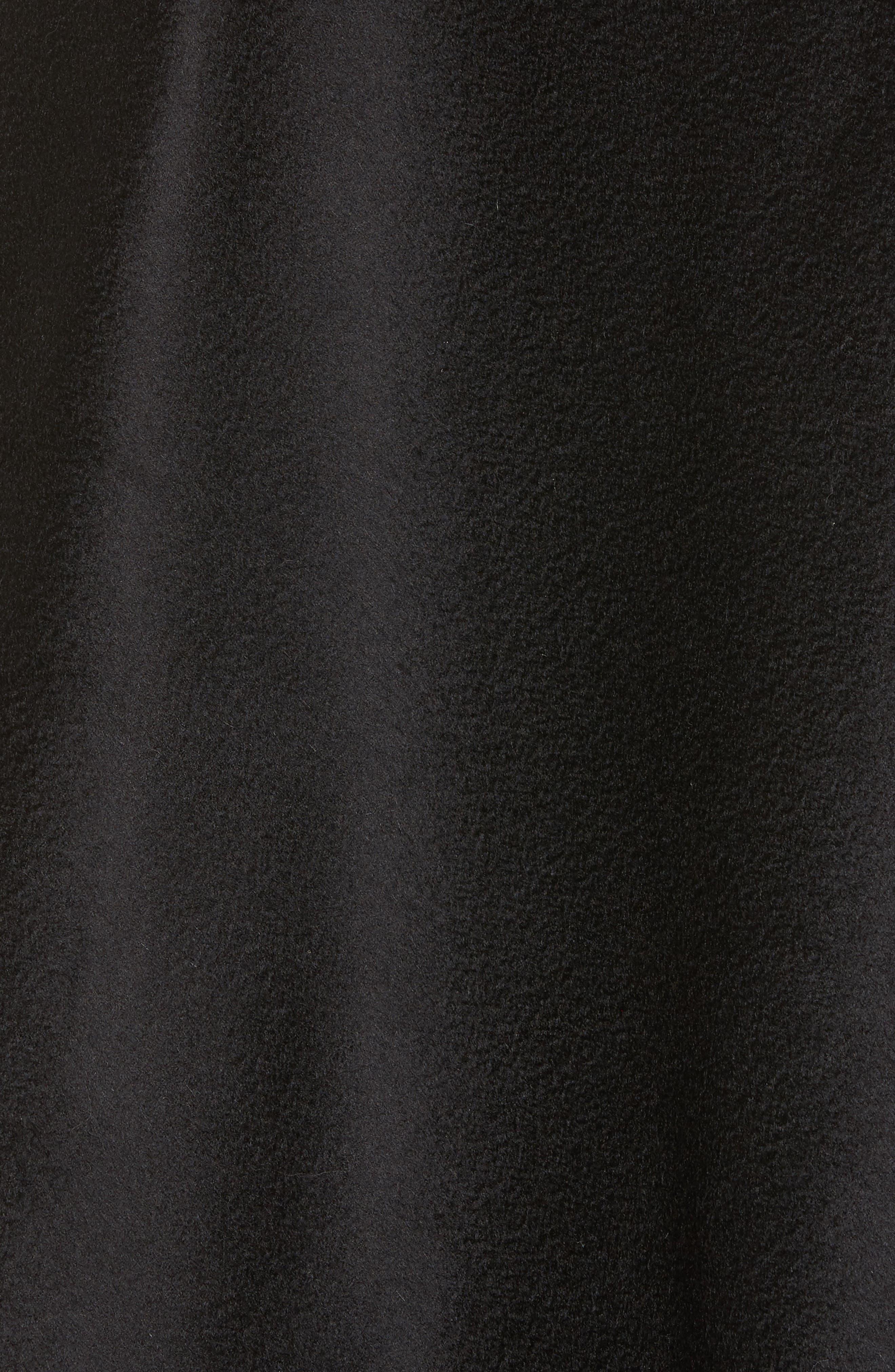 Genuine Fox Fur Trim Short Cashmere Cape,                             Alternate thumbnail 15, color,