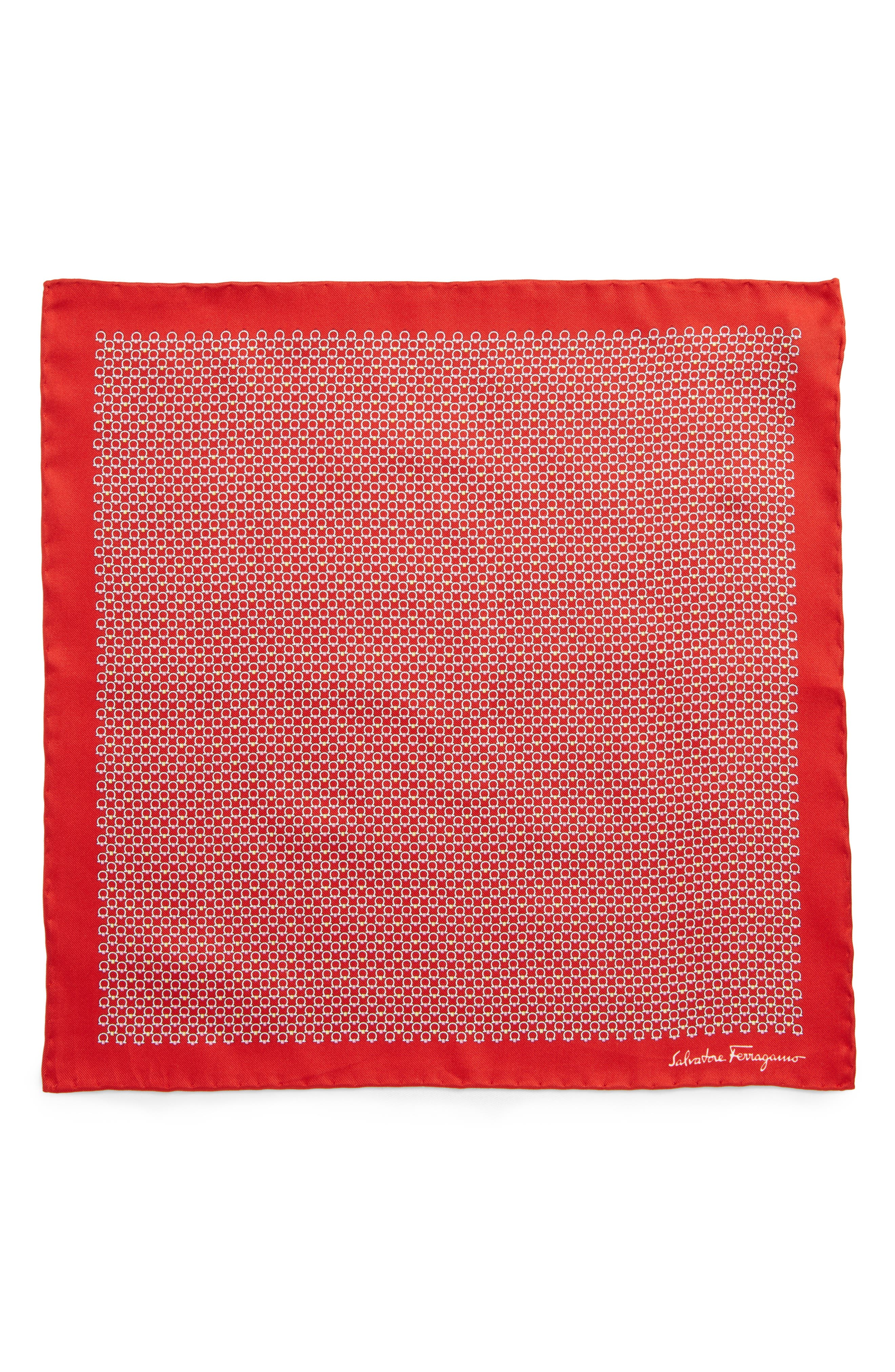 Energia Medallion Silk Pocket Square,                             Alternate thumbnail 6, color,