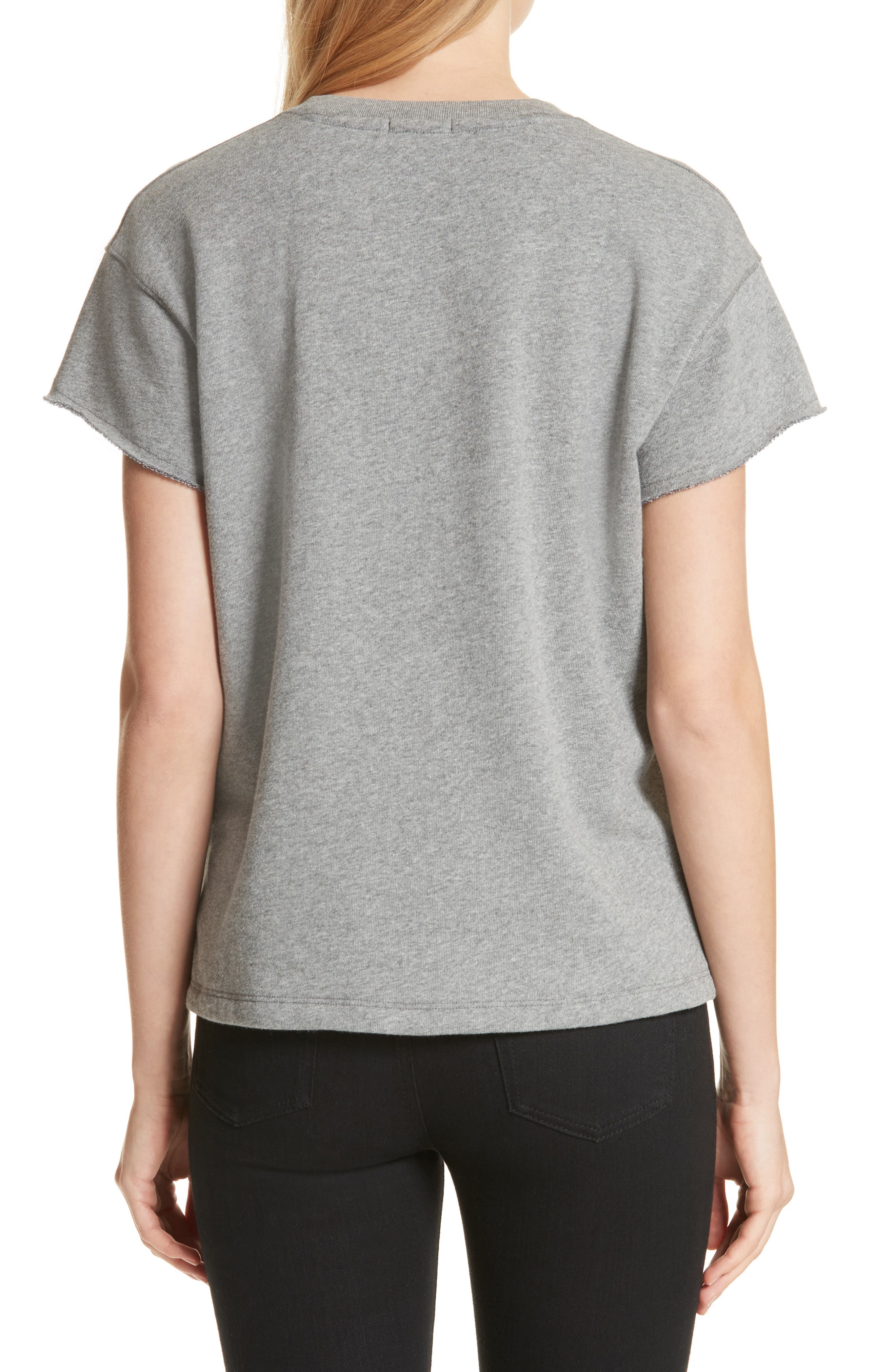Short Sleeve Sweatshirt,                             Alternate thumbnail 2, color,