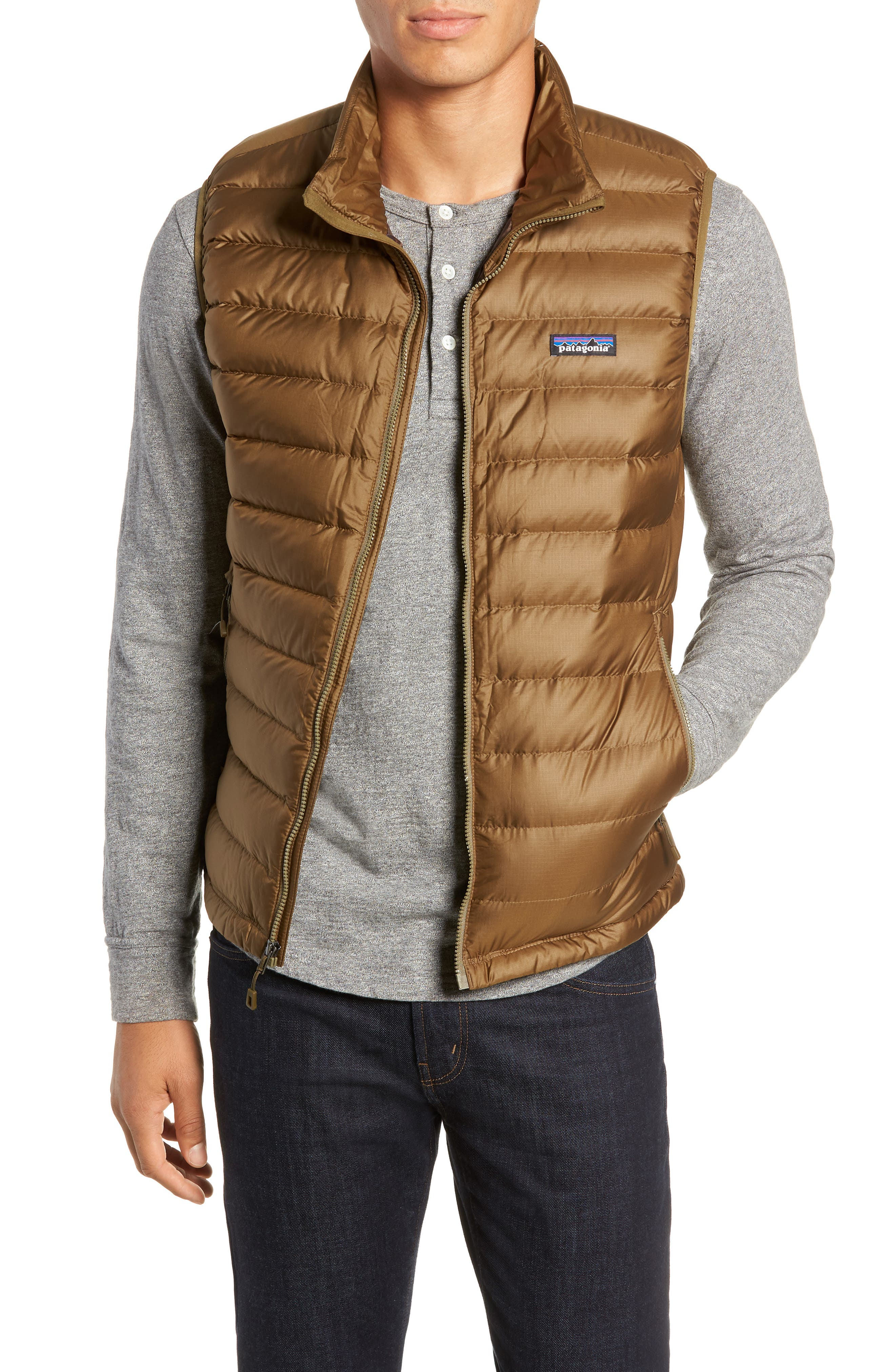 Windproof & Water Resistant 800 Fill Power Down Quilted Vest,                             Main thumbnail 2, color,