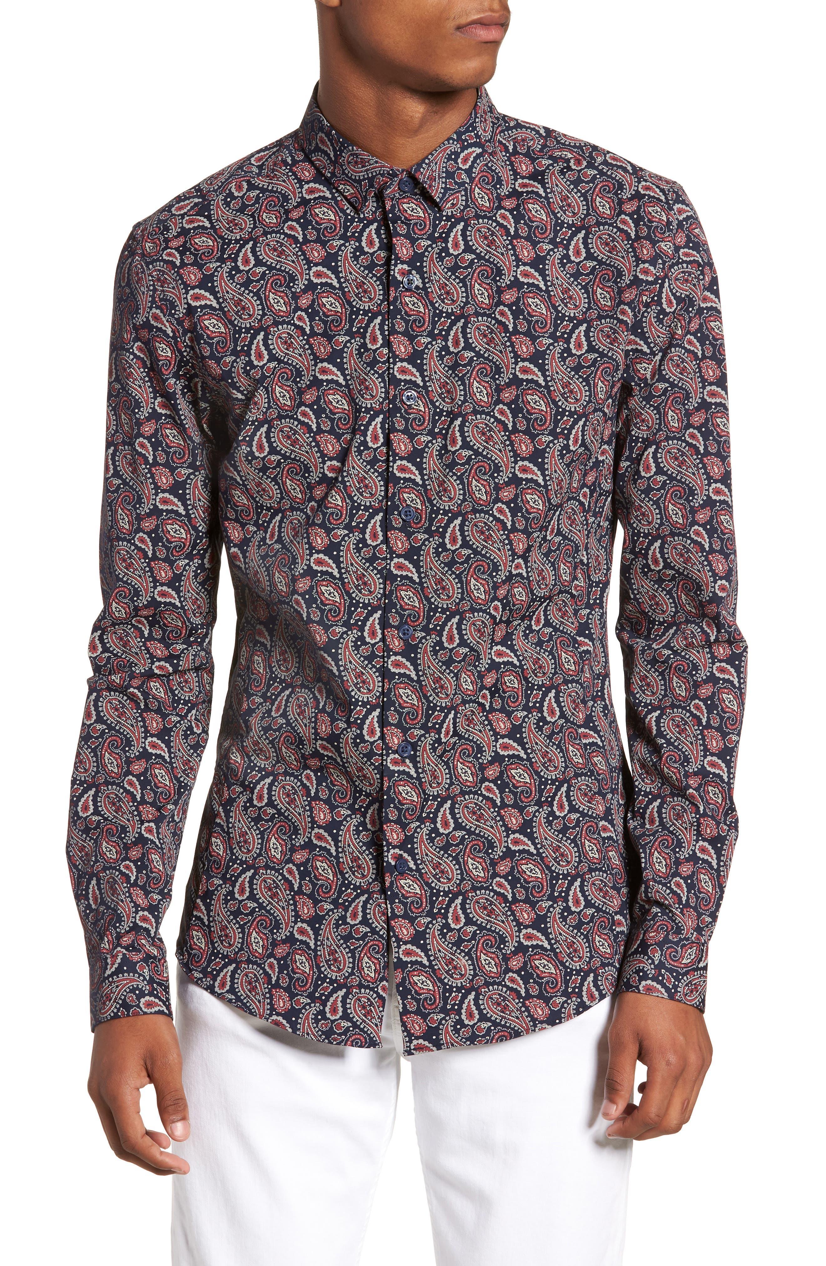 Paisley Print Shirt,                             Main thumbnail 1, color,                             410