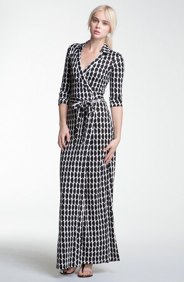 8c30911ef5d DIANE VON FURSTENBERG  Abigail  Print Silk Wrap Maxi Dress