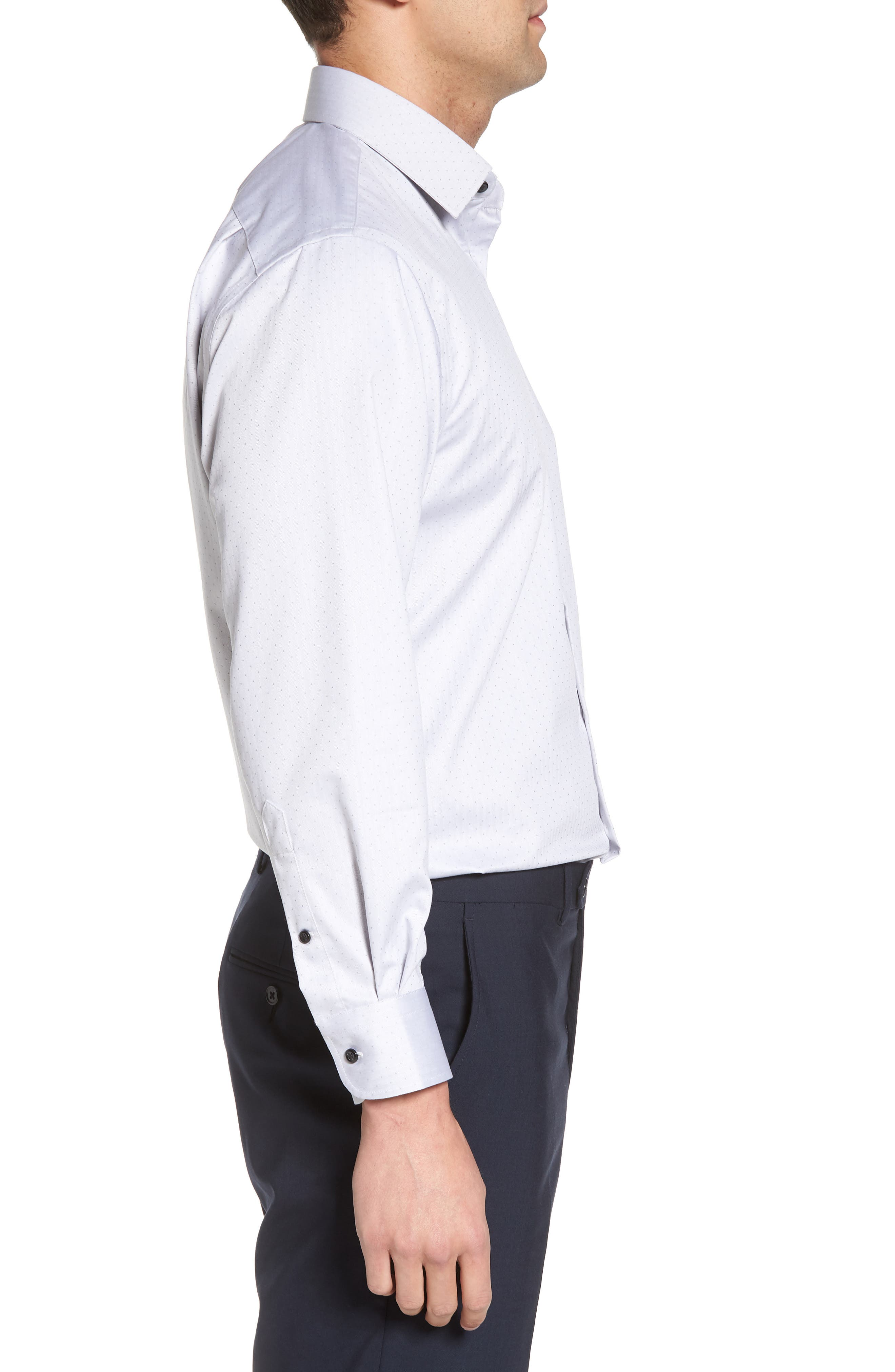 Traditional Fit Non-Iron Dress Shirt,                             Alternate thumbnail 7, color,