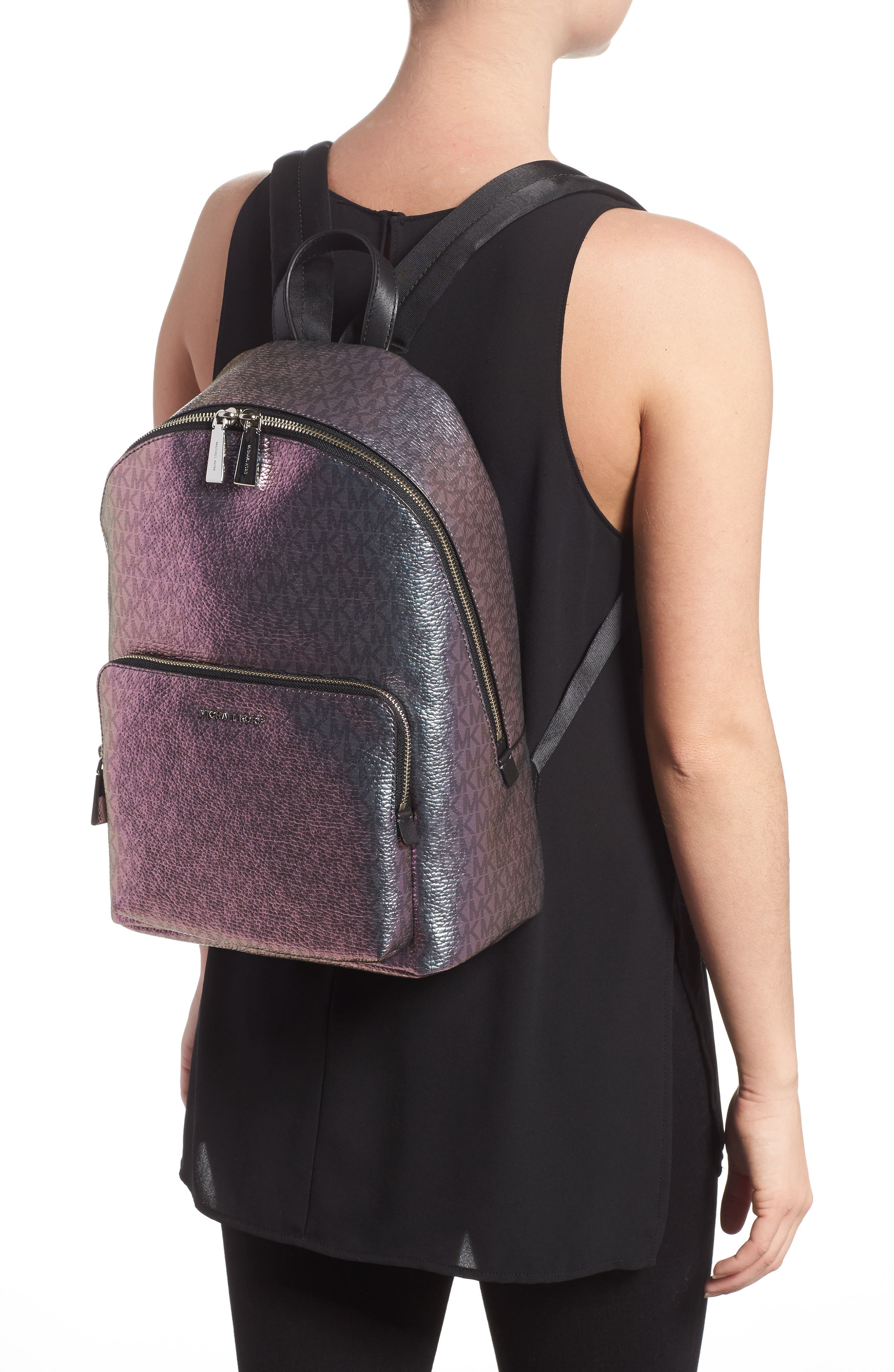 MICHAEL Michael Kors Wythe Large Faux Leather Backpack,                             Alternate thumbnail 2, color,                             400