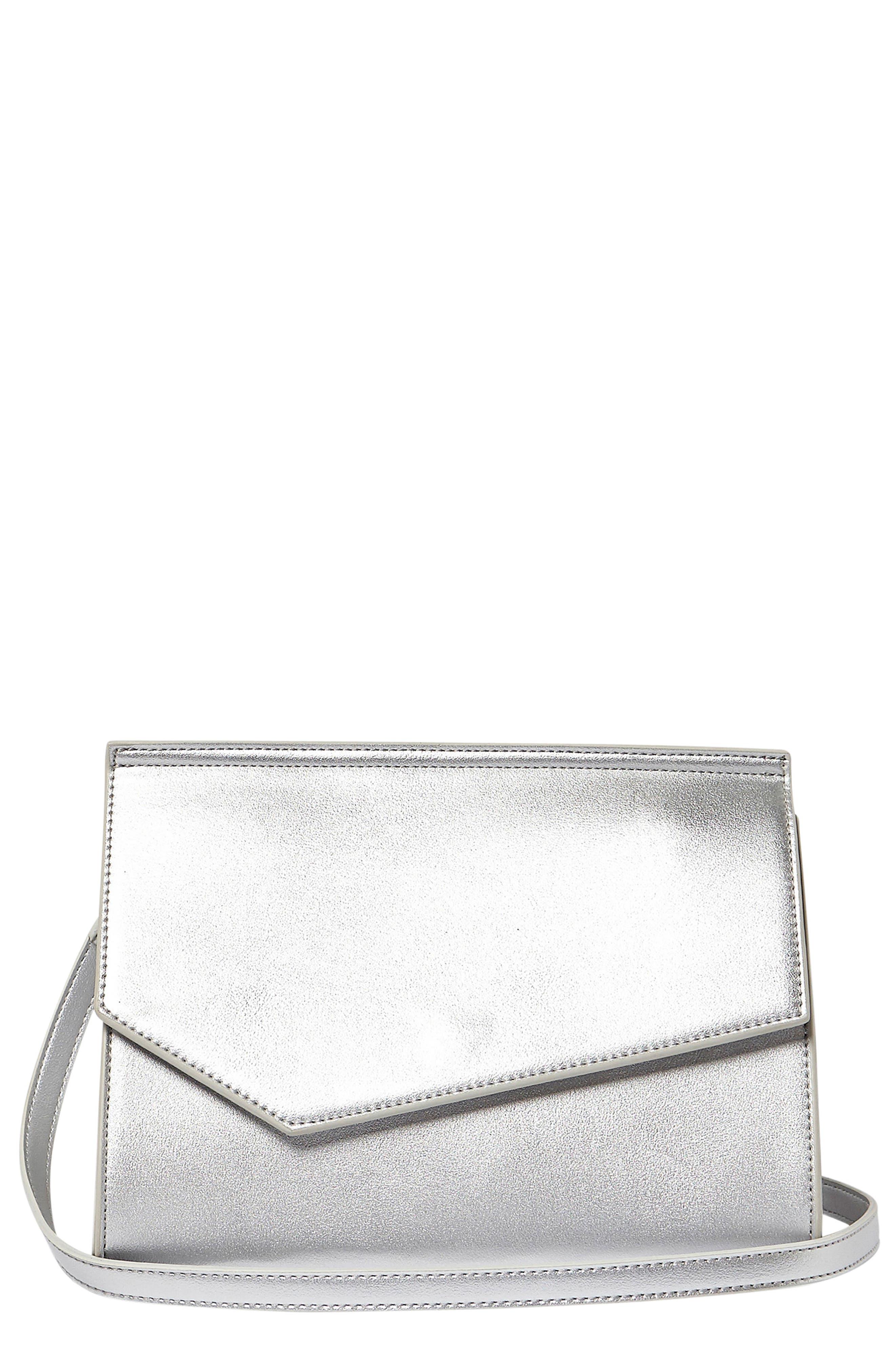 Shimmer Vegan Leather Shoulder Bag,                             Main thumbnail 2, color,