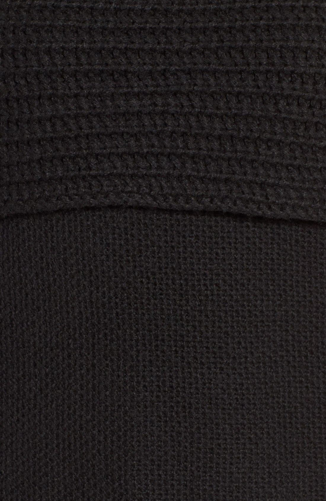 Cowl Off the Shoulder Sweater,                             Alternate thumbnail 5, color,                             001
