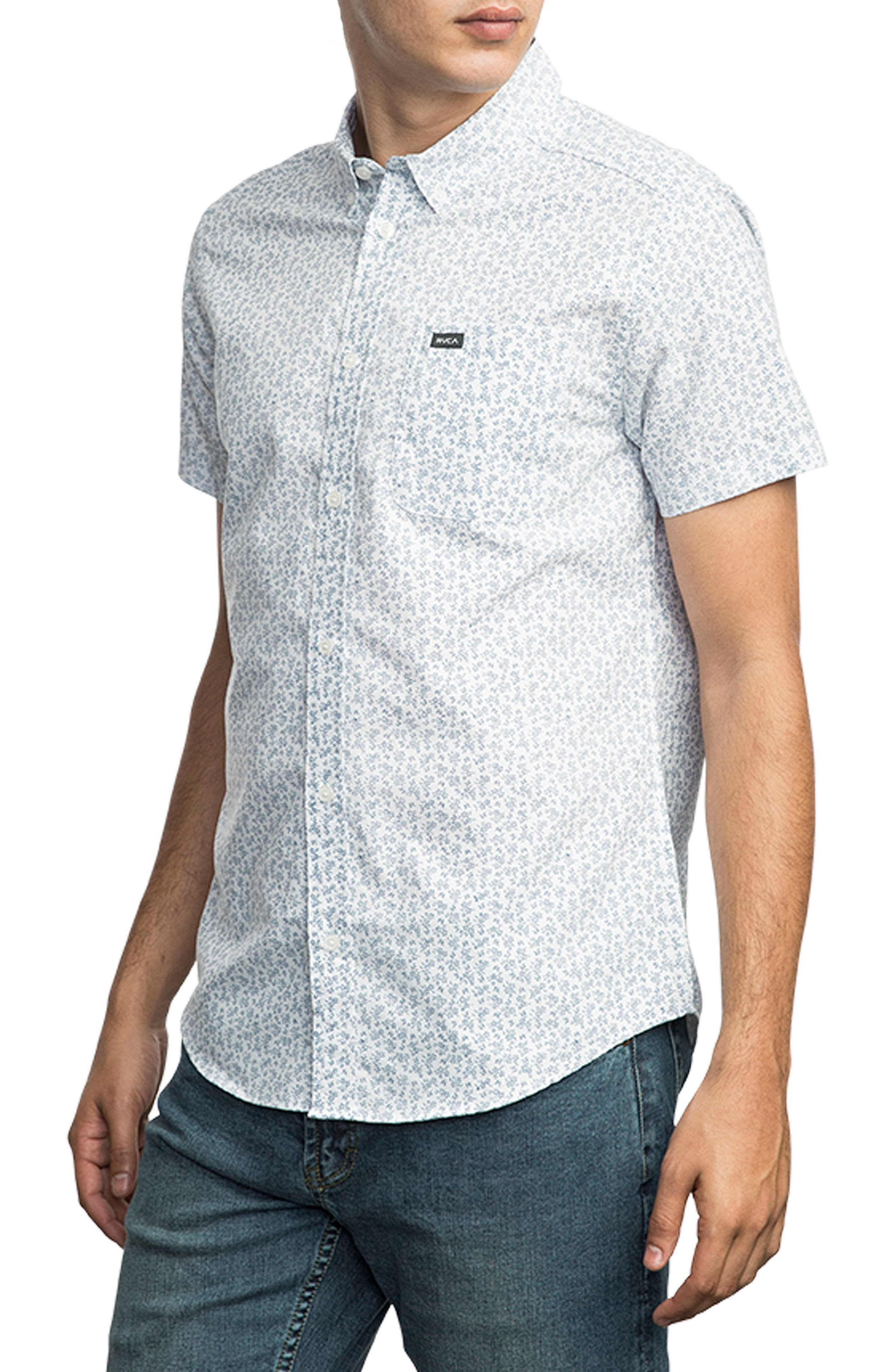 That'll Do Floral Woven Shirt,                             Alternate thumbnail 3, color,                             100