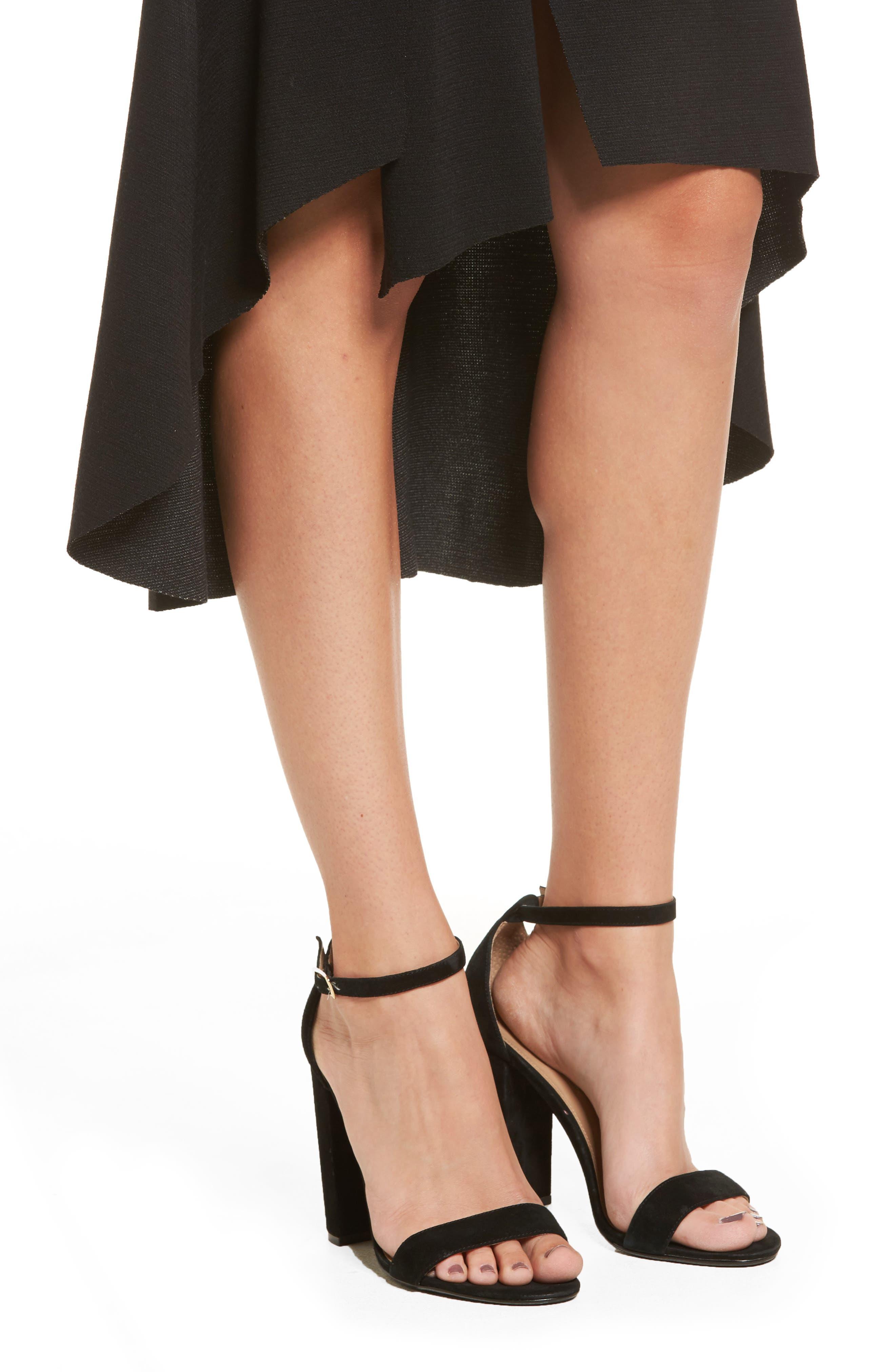 Ruffle High/Low Skirt,                             Alternate thumbnail 4, color,                             001