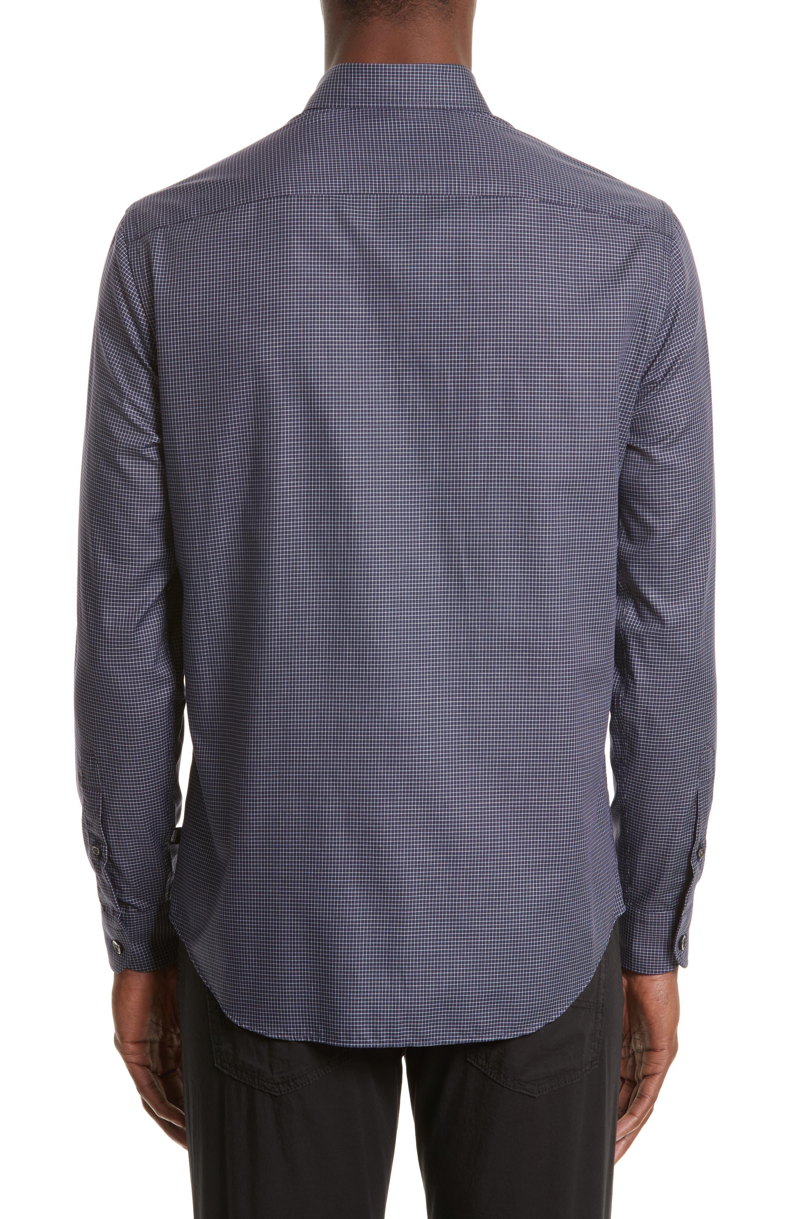 Slim Fit Grid Print Sport Shirt,                             Alternate thumbnail 2, color,                             484