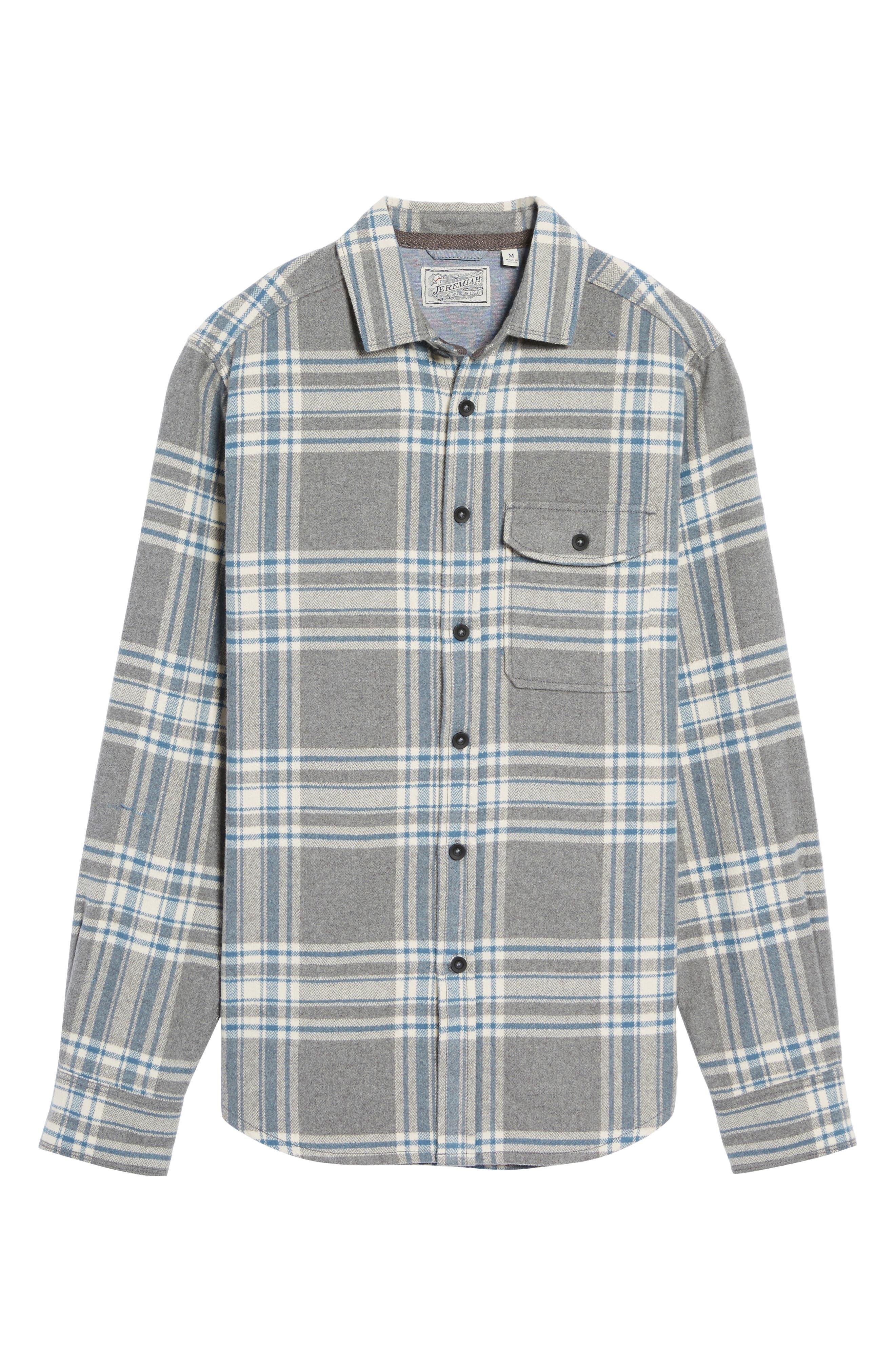 Marin Herringbone Plaid Flannel Shirt,                             Alternate thumbnail 5, color,                             035