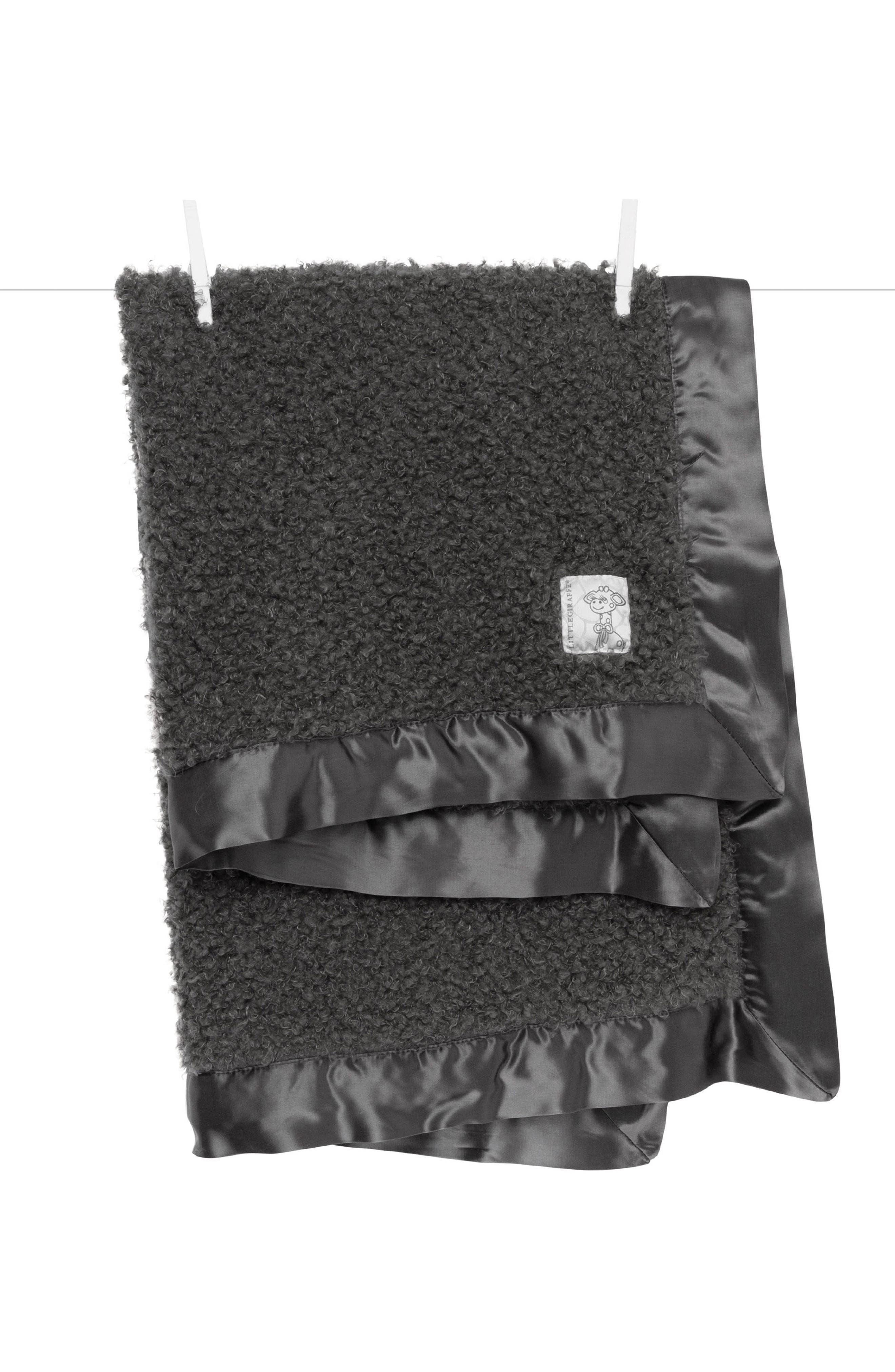 Bouclé Blanket,                         Main,                         color, CHARCOAL