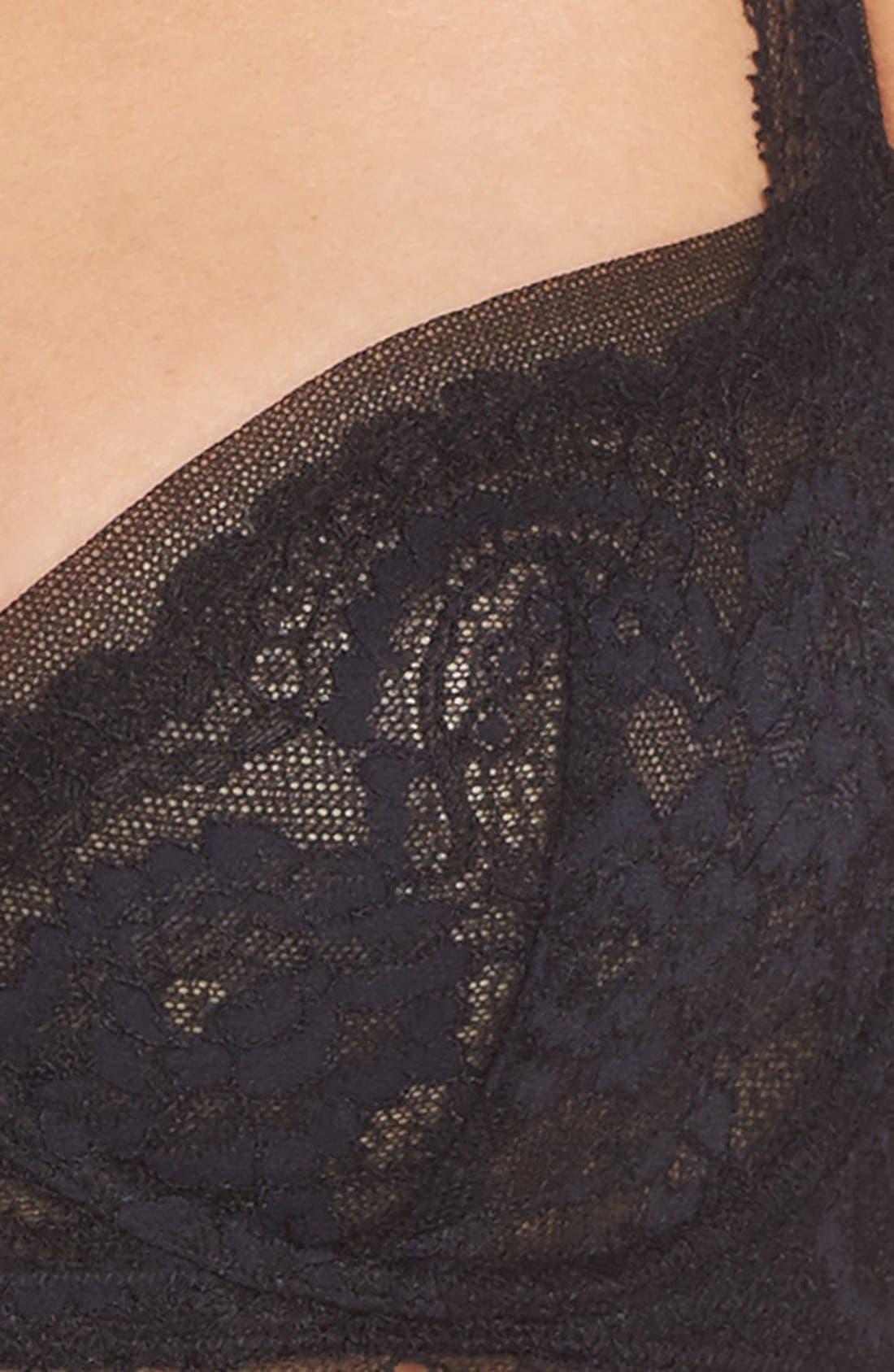 'Minx' Unlined Lace Demi Underwire Bra,                             Alternate thumbnail 21, color,