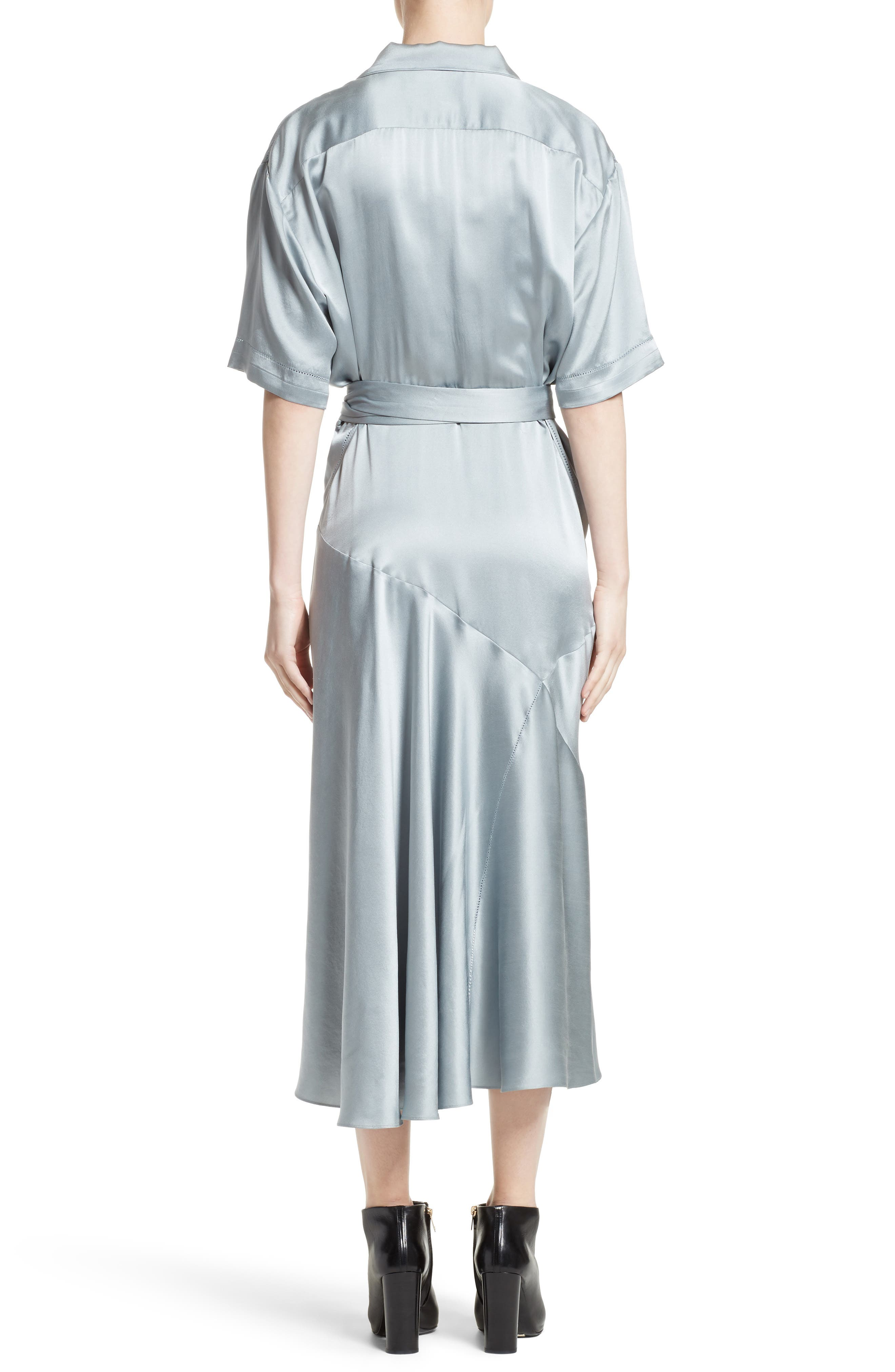 Emily Silk Shirtdress,                             Alternate thumbnail 2, color,                             452