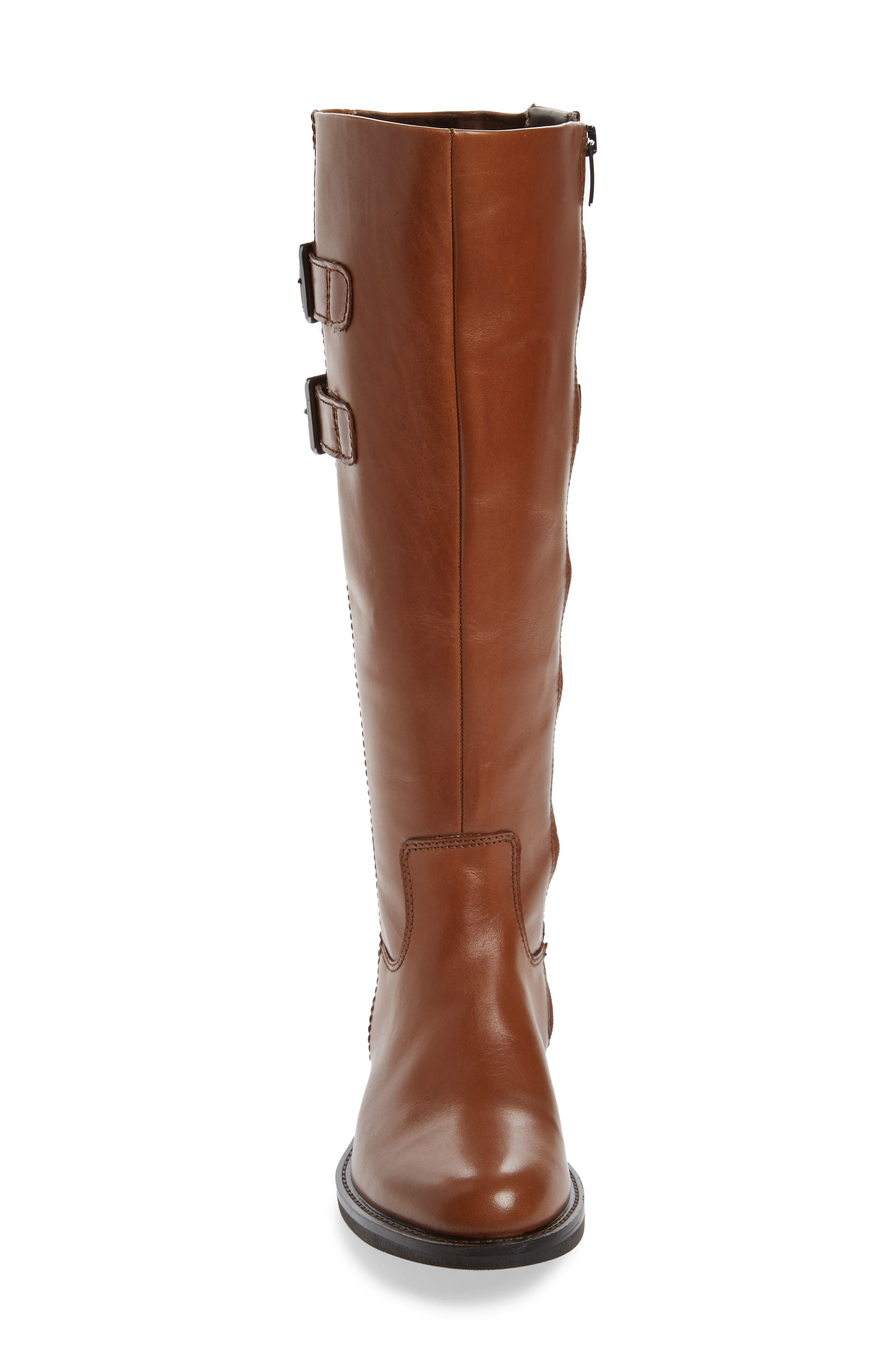 Shape 25 Tall Buckle Boot,                             Alternate thumbnail 4, color,                             CAMEL LEATHER