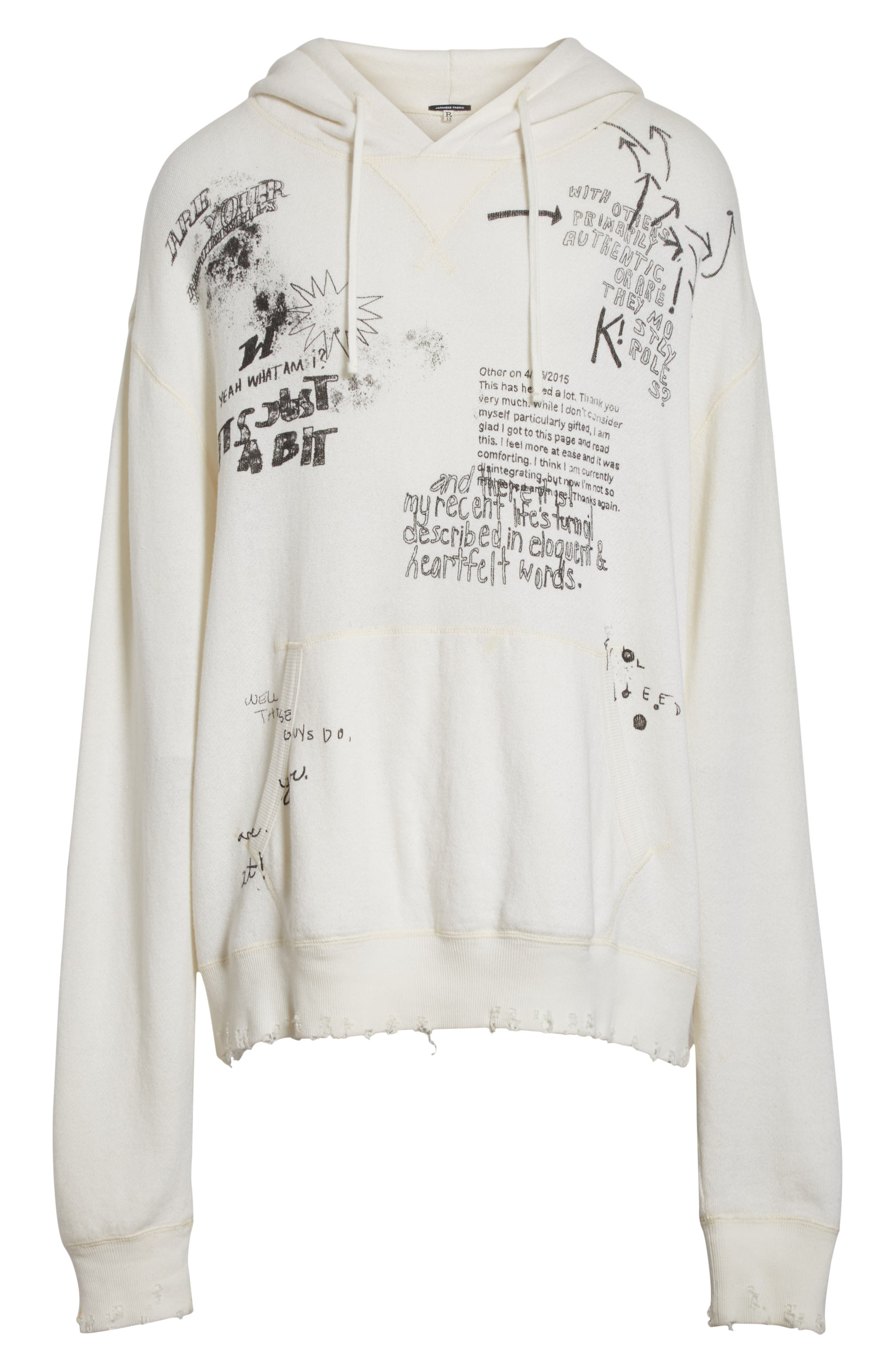 Doodle Hoodie,                             Alternate thumbnail 6, color,                             WHITE