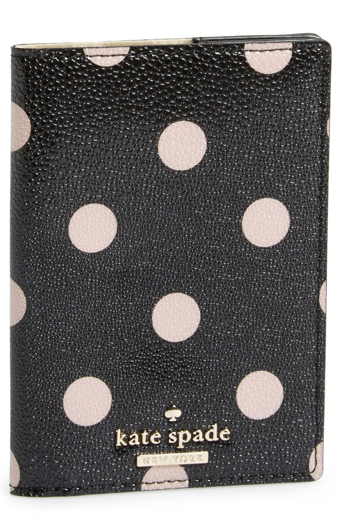 'cedar street dot' passport holder,                             Main thumbnail 1, color,                             002