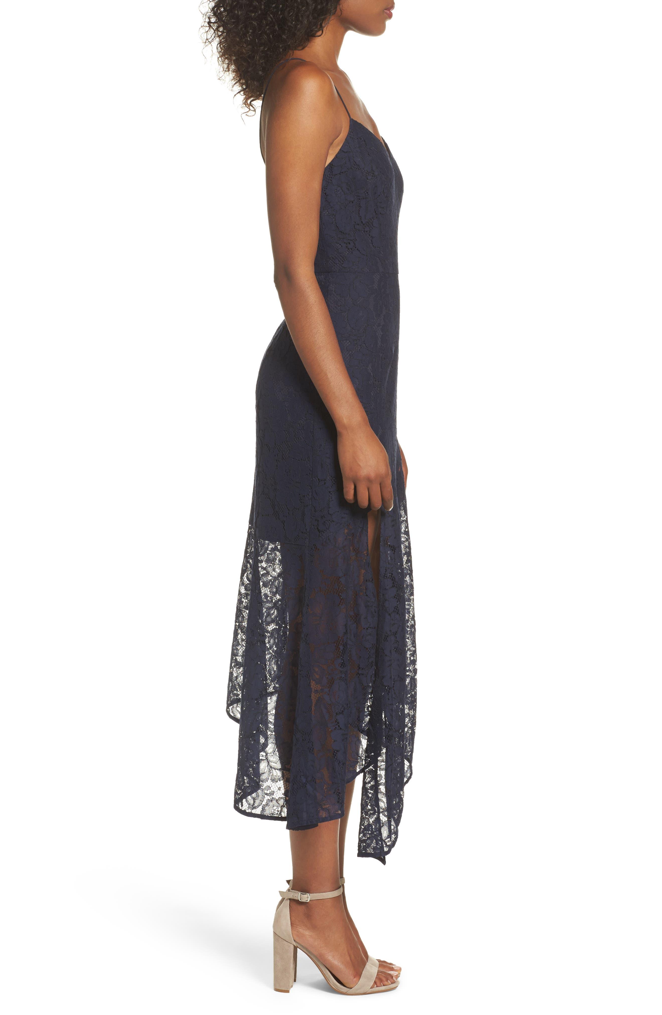 Soho Lace Midi Dress,                             Alternate thumbnail 3, color,                             400