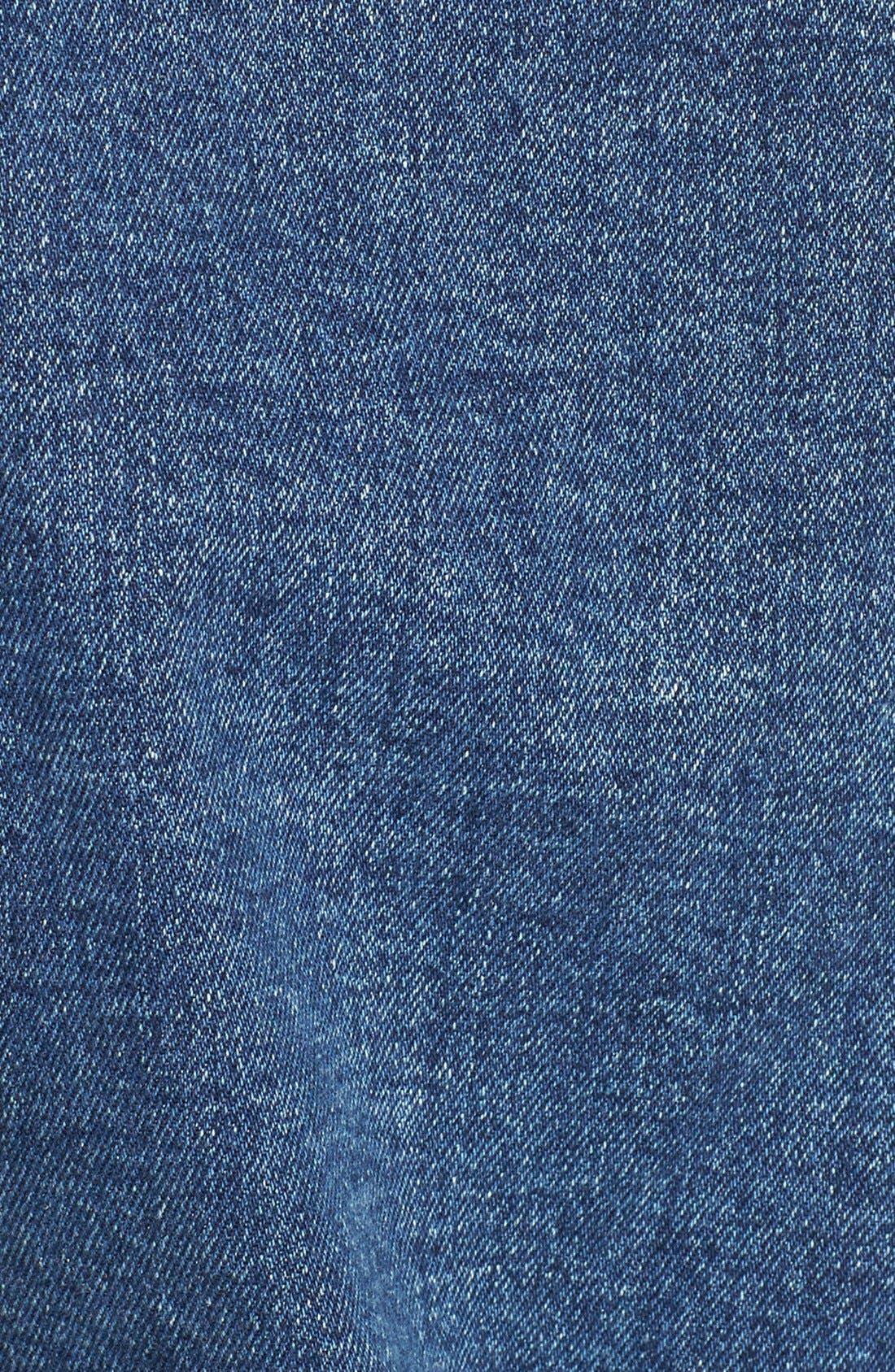 PAIGE,                             'Leo' Faux Shearling Denim Jacket,                             Alternate thumbnail 3, color,                             400