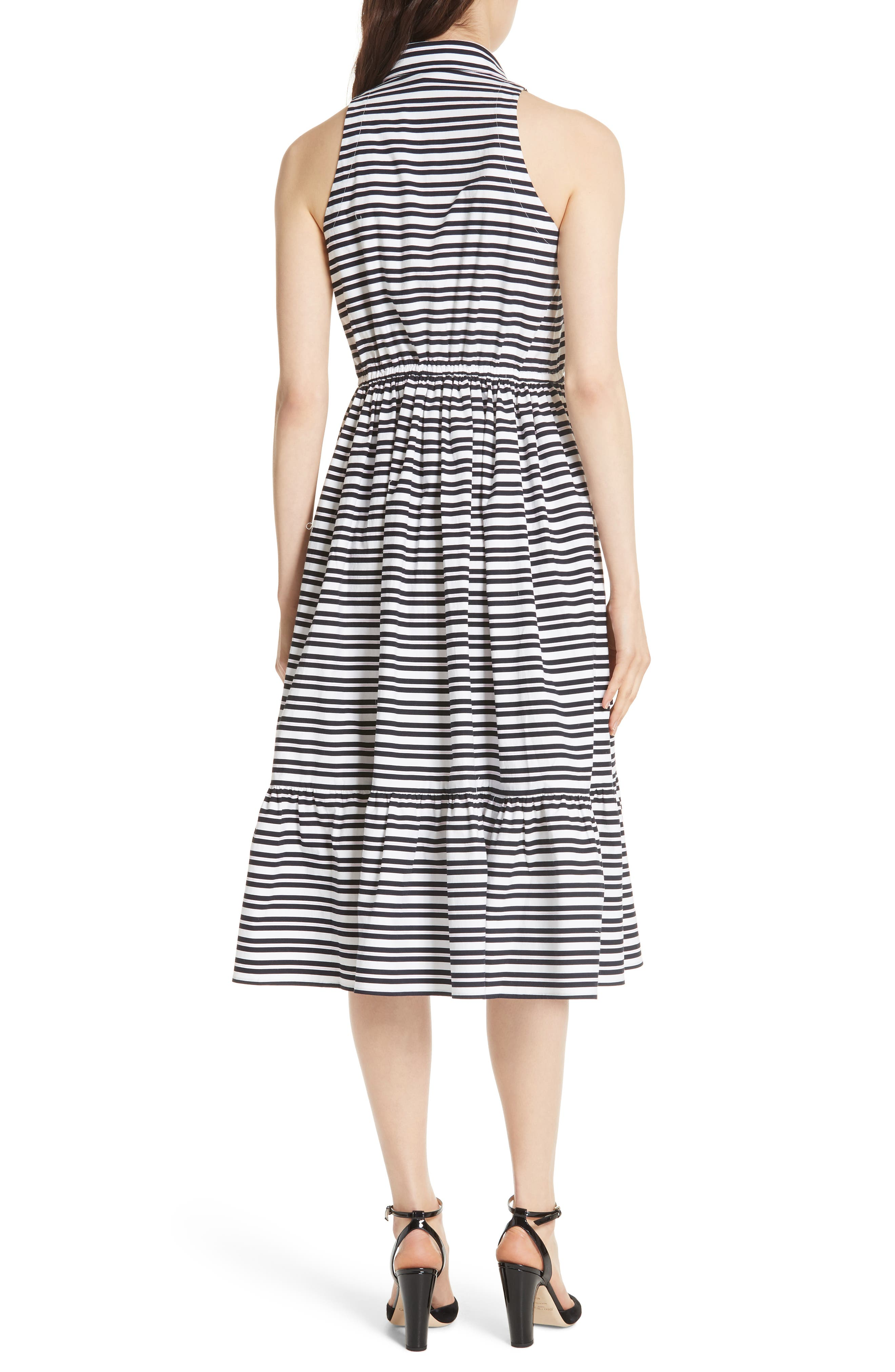 candy stripe stretch cotton shirtdress,                             Alternate thumbnail 2, color,                             473