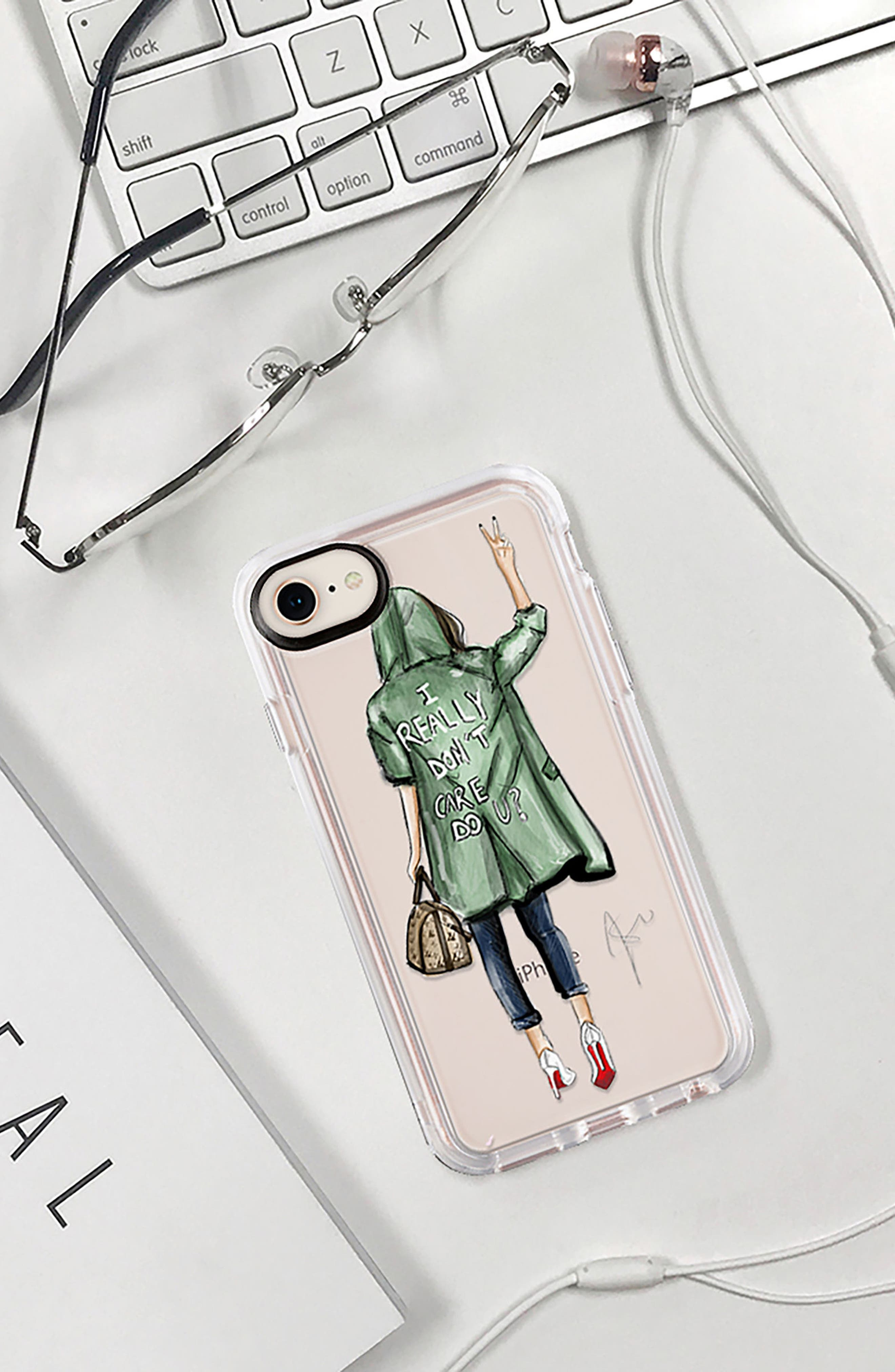 I Really Don't Care iPhone 7/8 & 7/8 Plus Case,                             Alternate thumbnail 8, color,                             300