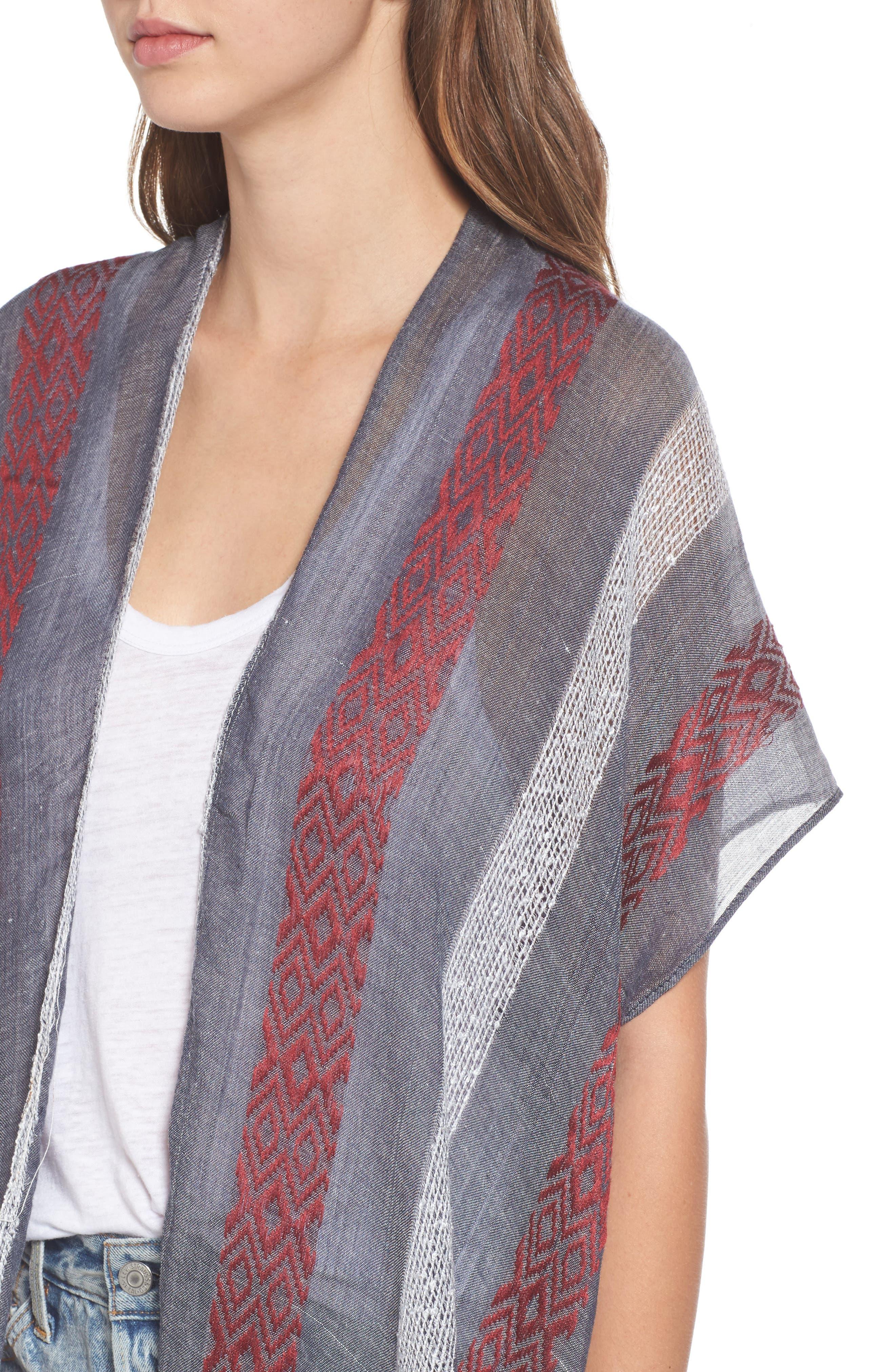 Knit Duster Kimono,                             Alternate thumbnail 4, color,                             020