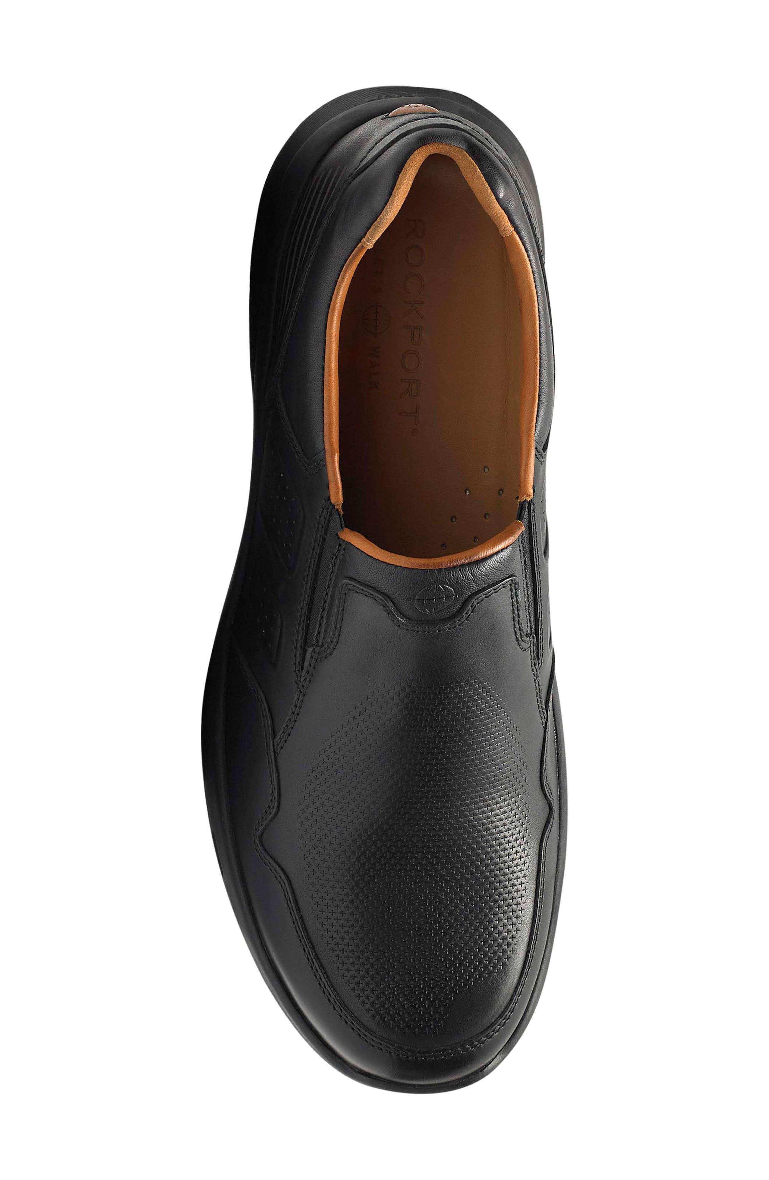 Let's Walk<sup>®</sup> Venetian Loafer,                             Alternate thumbnail 5, color,                             BLACK LEATHER