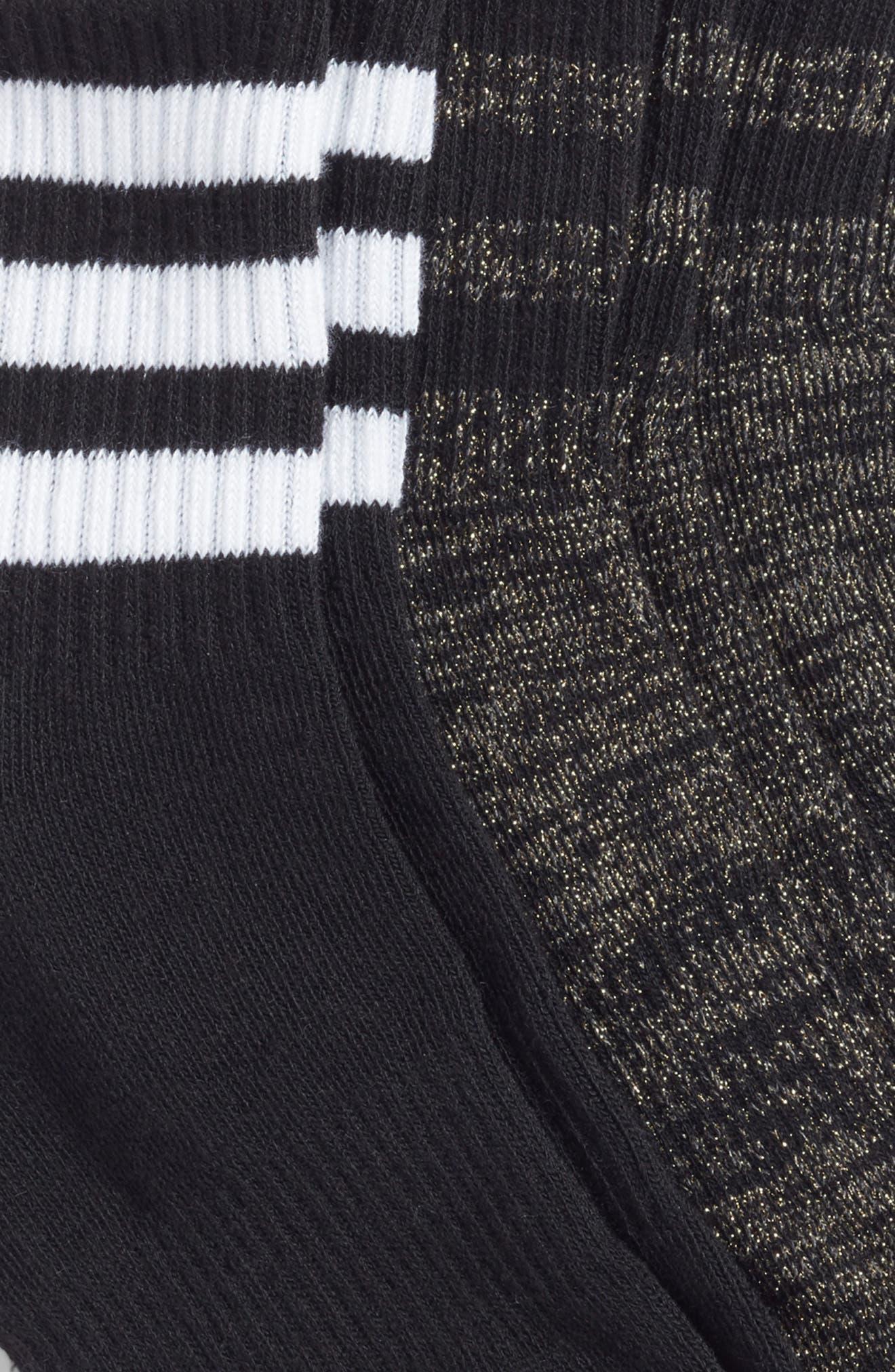 3-Stripes 3-Pack Ankle Socks,                             Alternate thumbnail 2, color,                             001