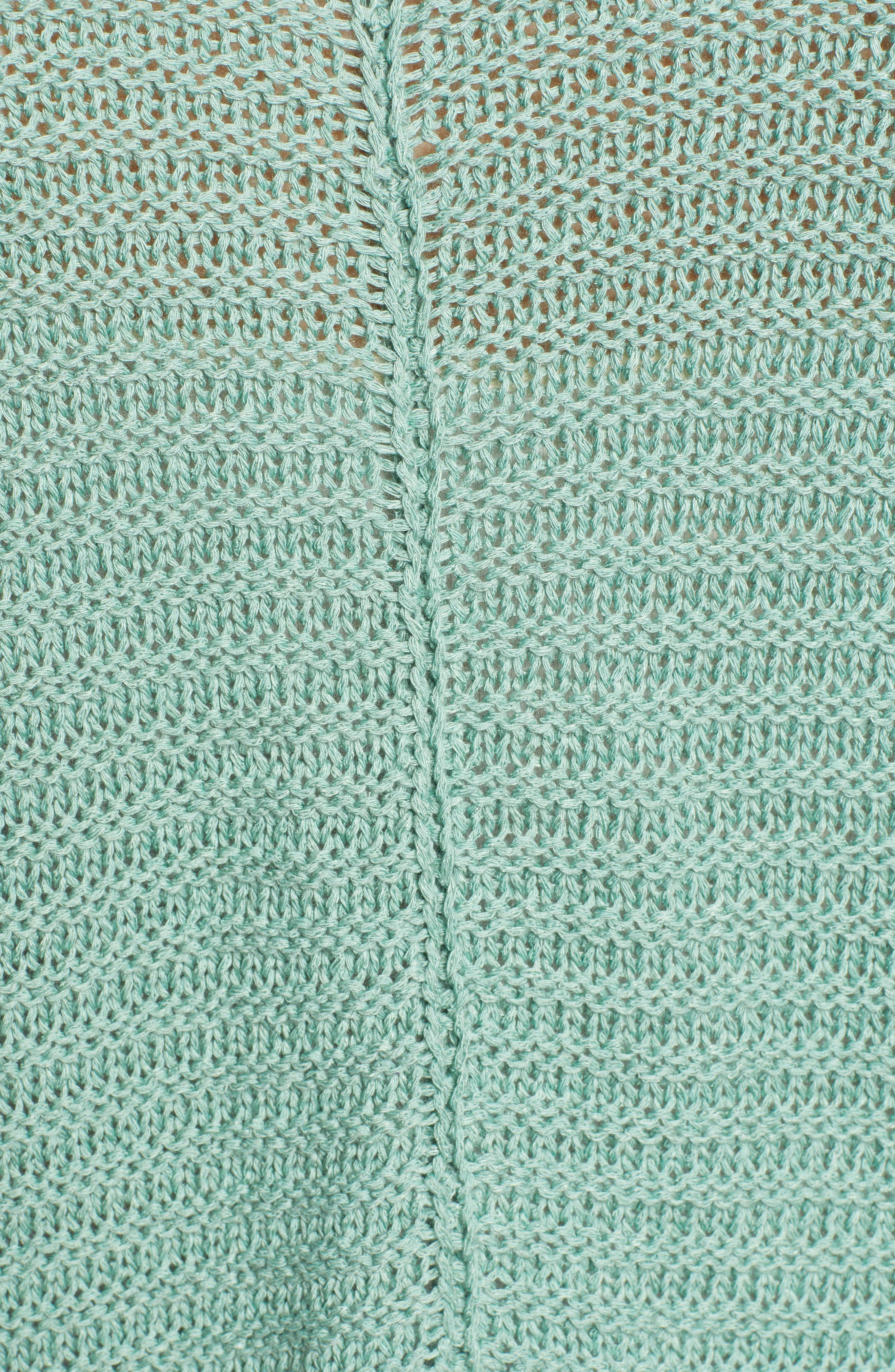CASLON<SUP>®</SUP>,                             Cuffed Sleeve Sweater,                             Alternate thumbnail 5, color,                             GREEN WING