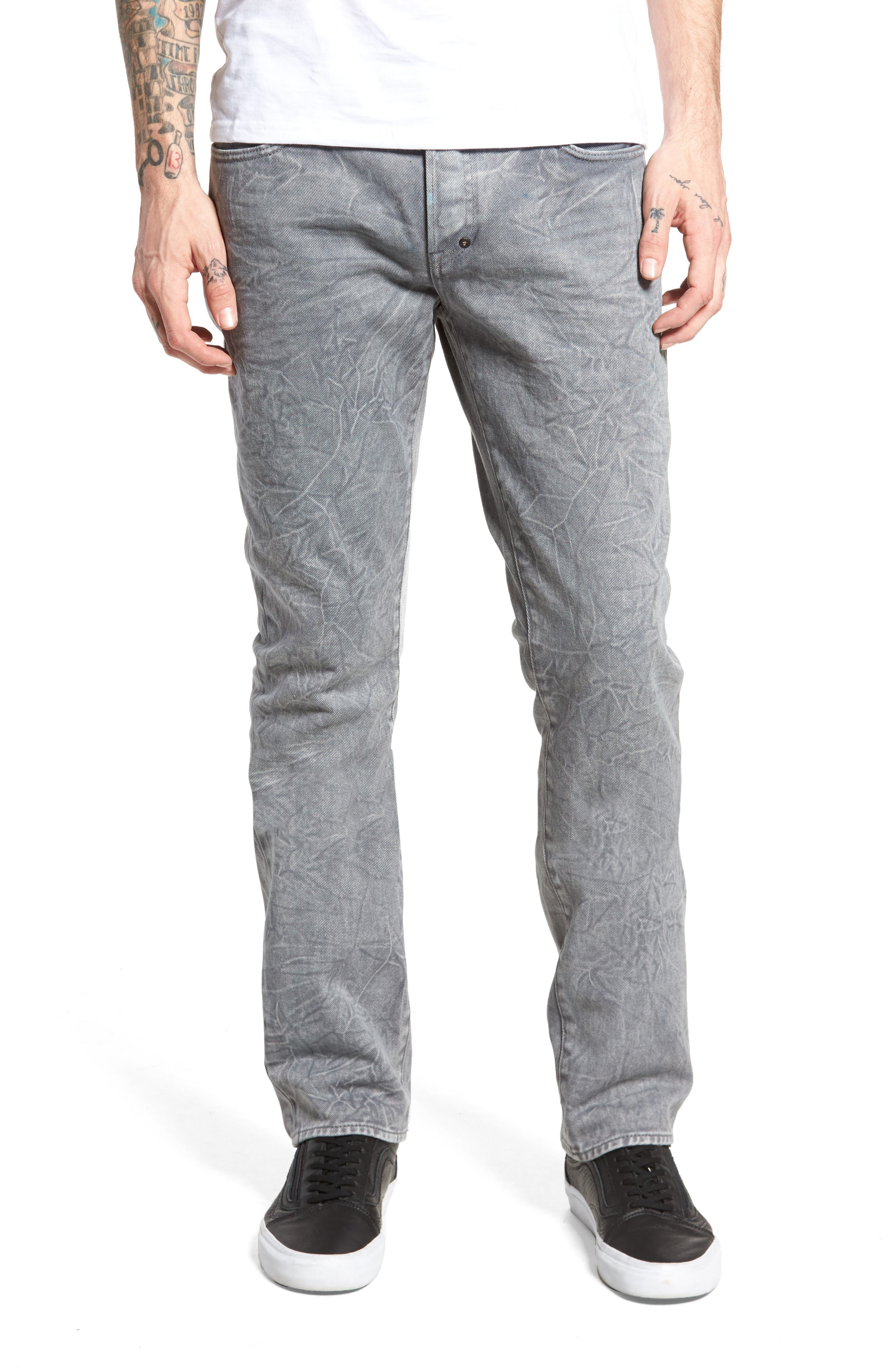 Slim Straight Leg Jeans,                             Main thumbnail 1, color,                             020
