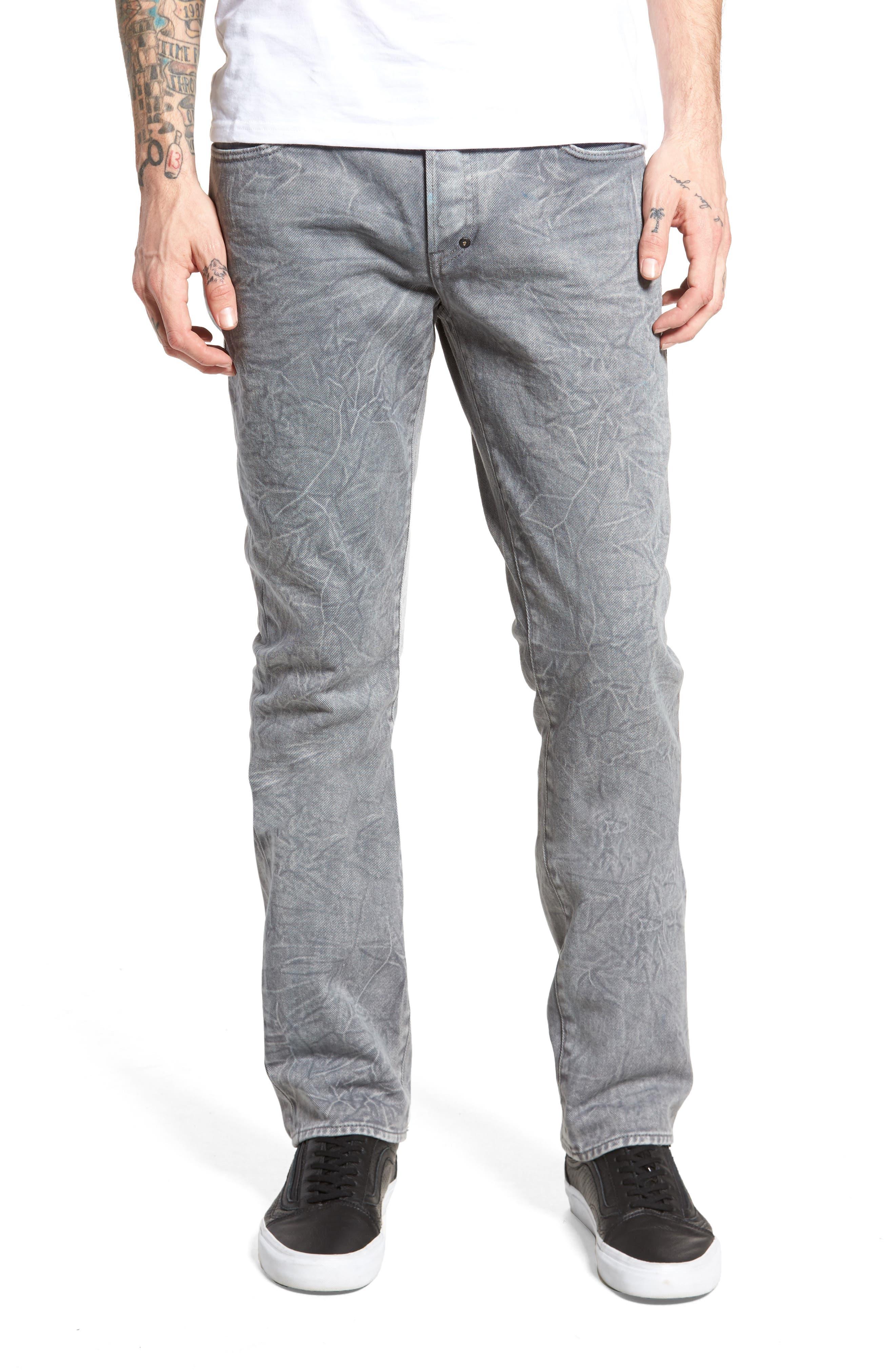 Slim Straight Leg Jeans,                         Main,                         color, 020
