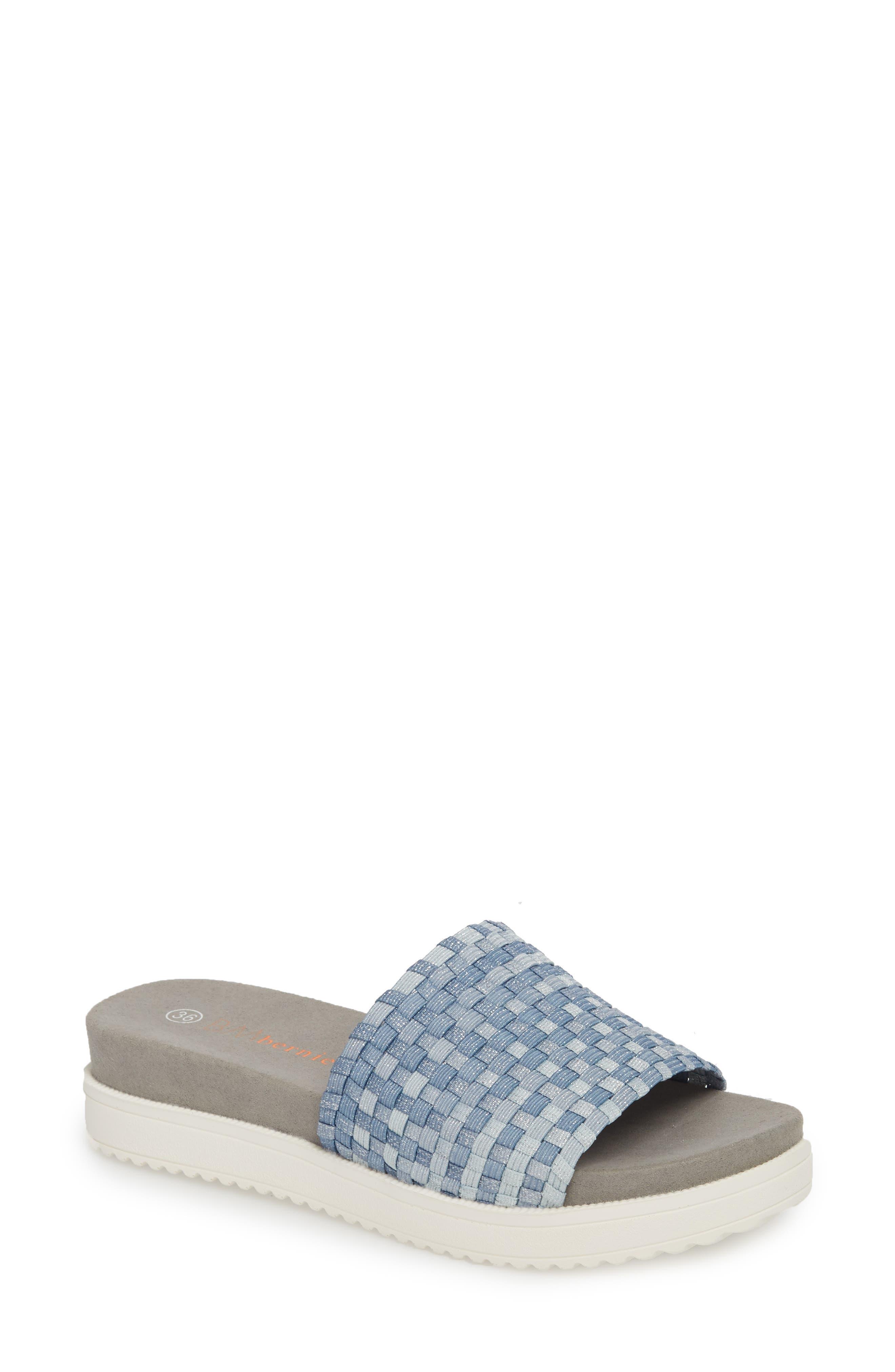 BERNIE MEV. Capri Slide Sandal, Main, color, CLOUD SHIMMER FABRIC