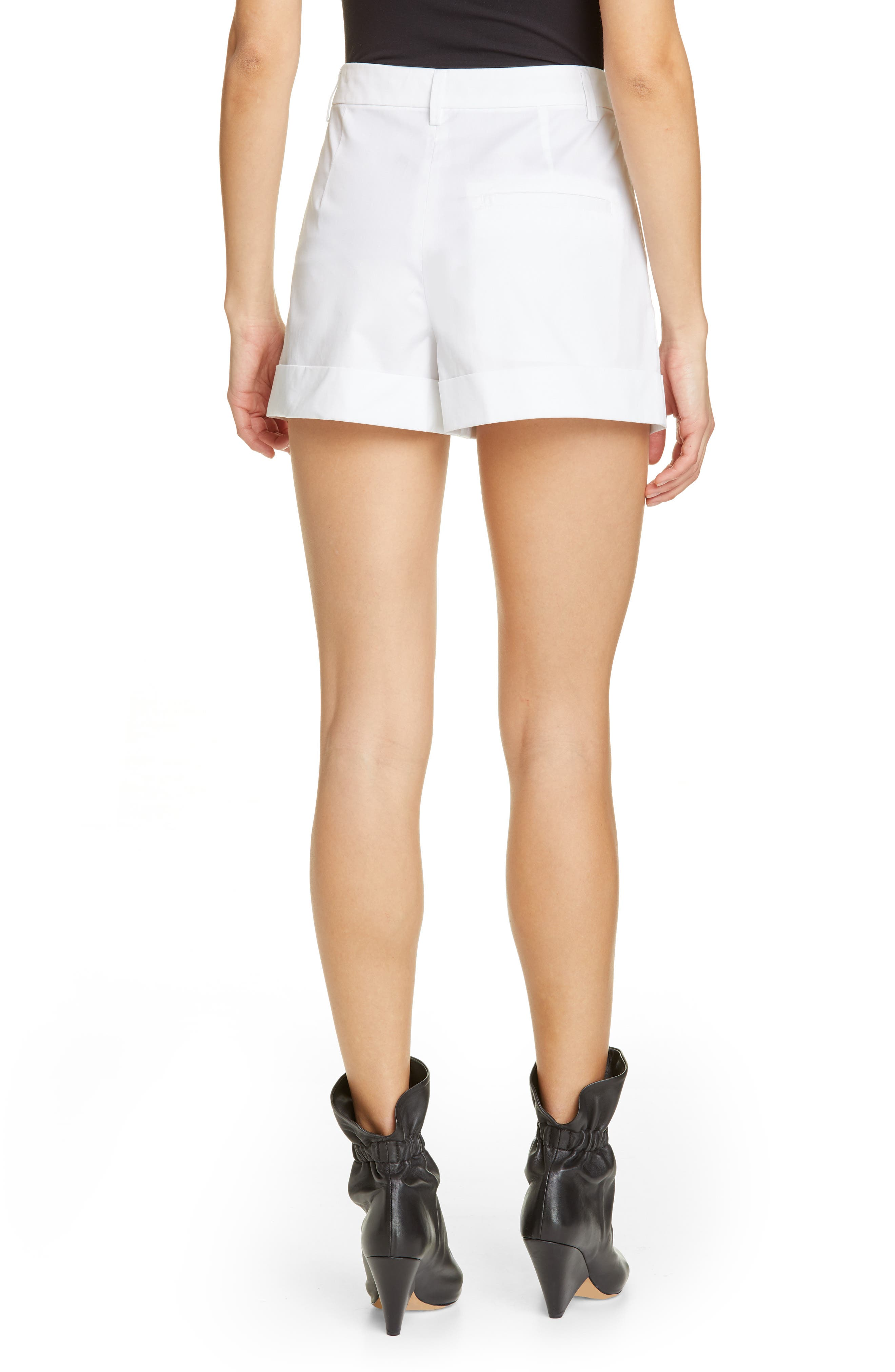 Olbia Cotton Shorts,                             Alternate thumbnail 2, color,                             WHITE