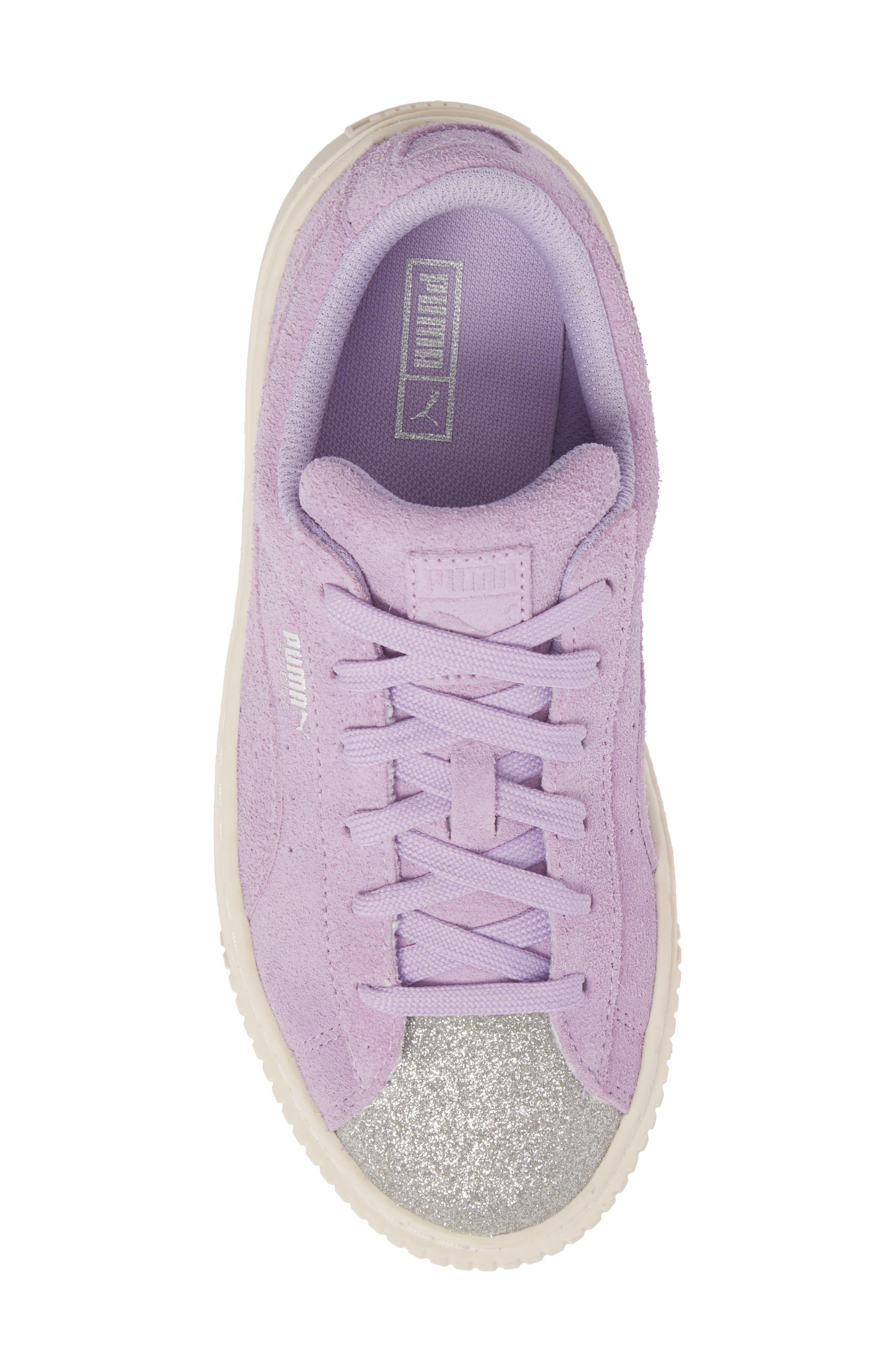 Suede Platform Glam PS Sneaker,                             Alternate thumbnail 23, color,