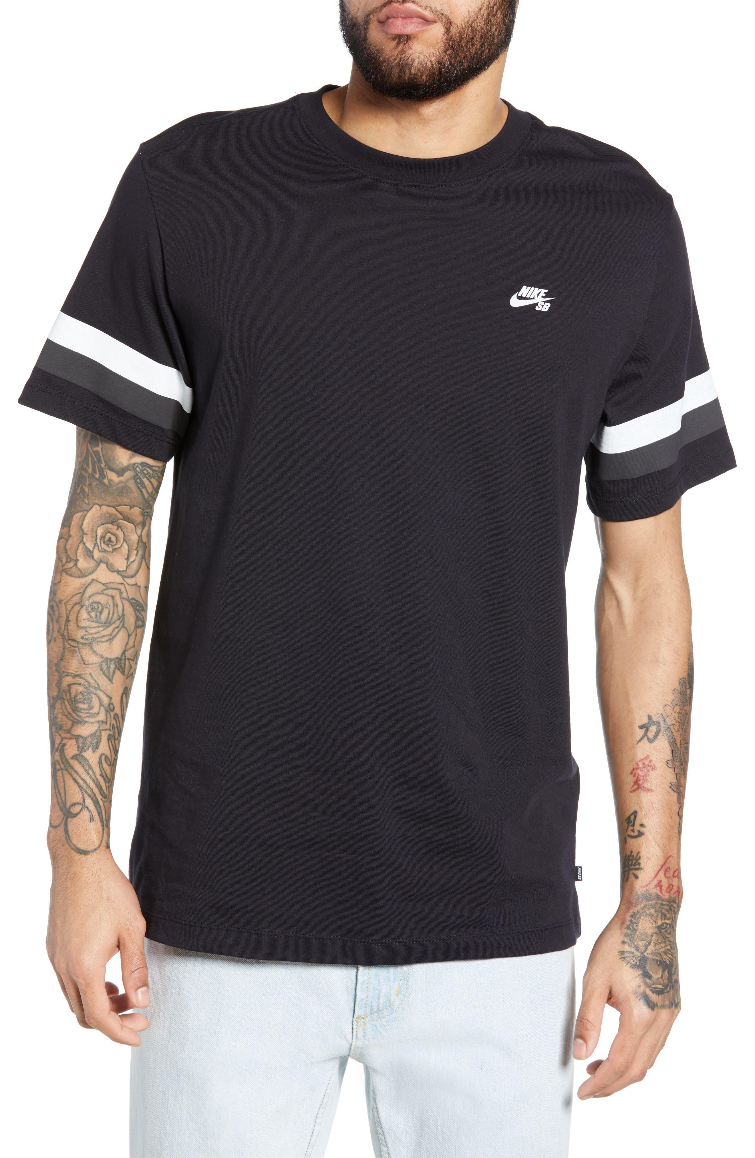 Nike Sb Sleeve Stripe T-Shirt, Black