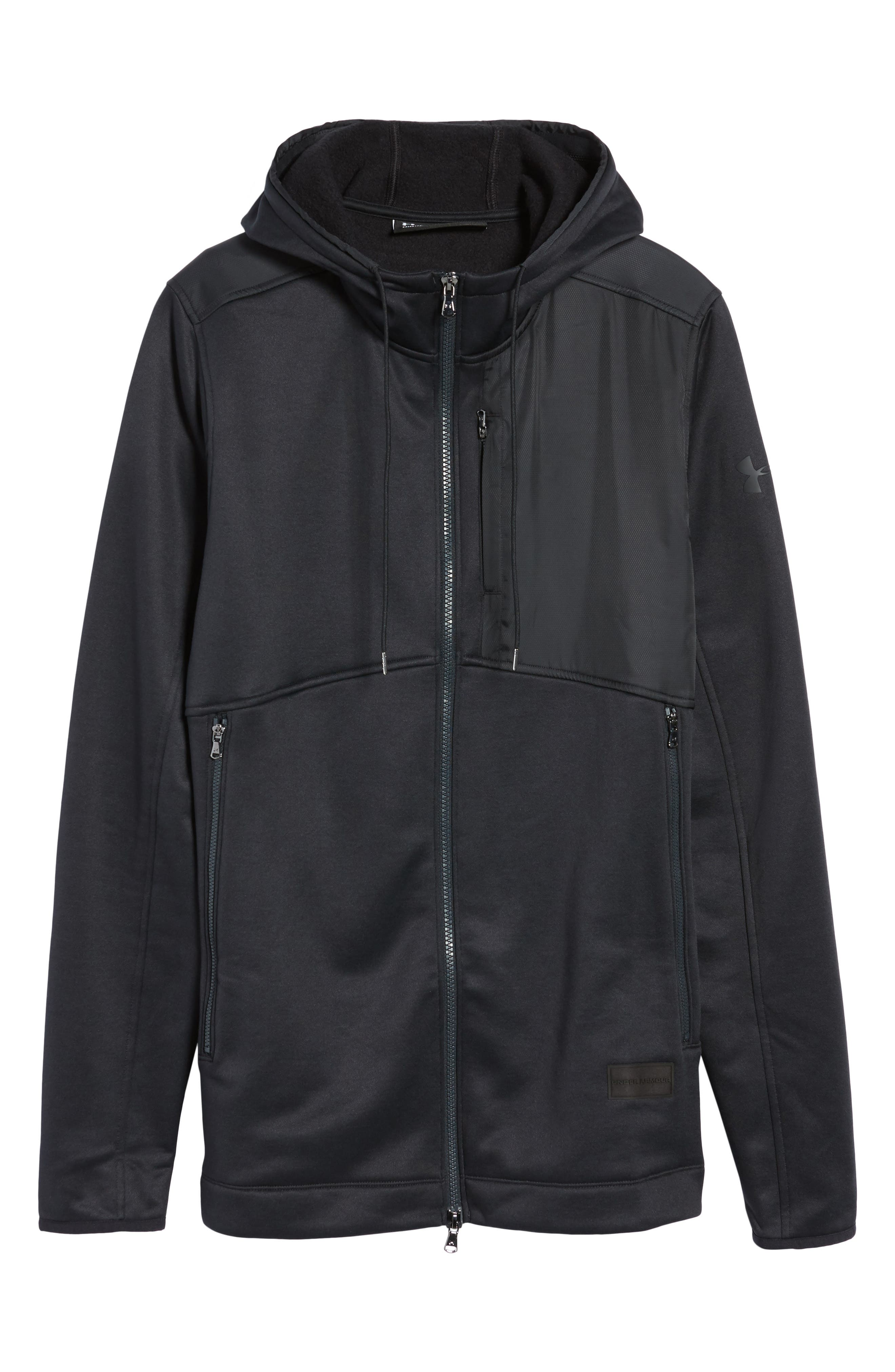 Courtside Stealth Zip Hoodie,                             Alternate thumbnail 21, color,