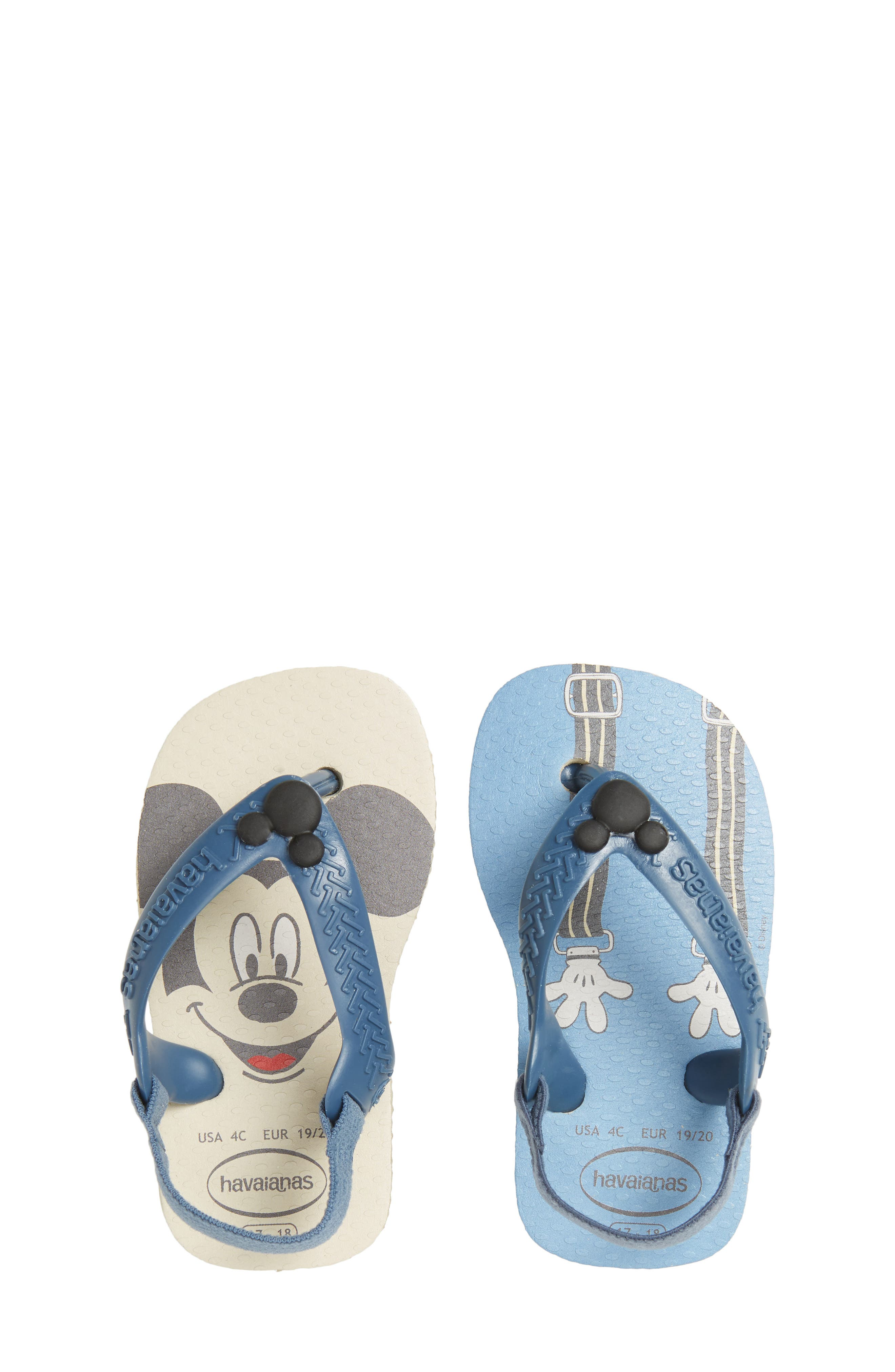 Baby Disney Classics Flip Flop,                             Main thumbnail 1, color,                             250