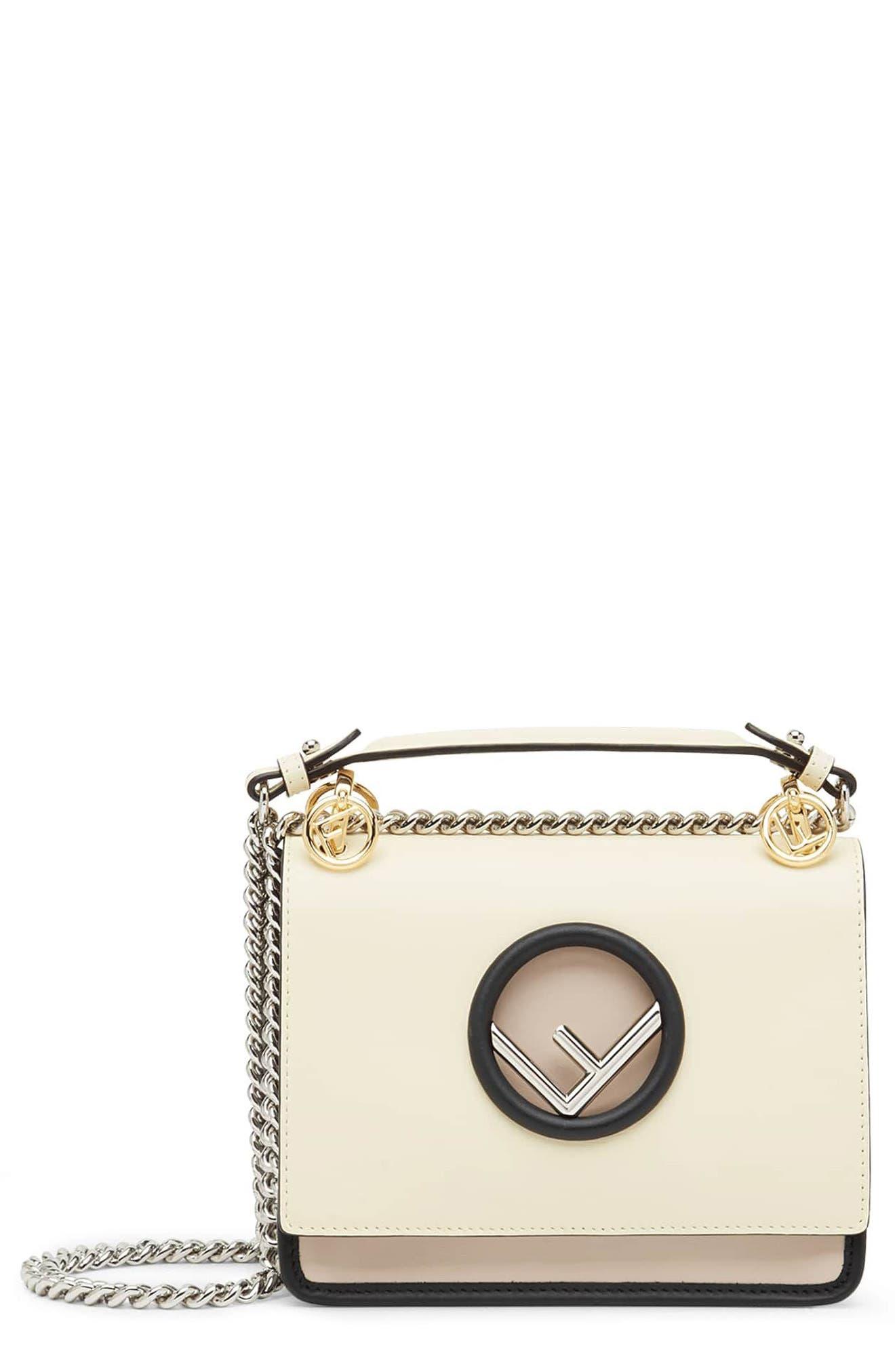Mini Kan I Colorblock Leather Shoulder Bag,                             Main thumbnail 1, color,                             650