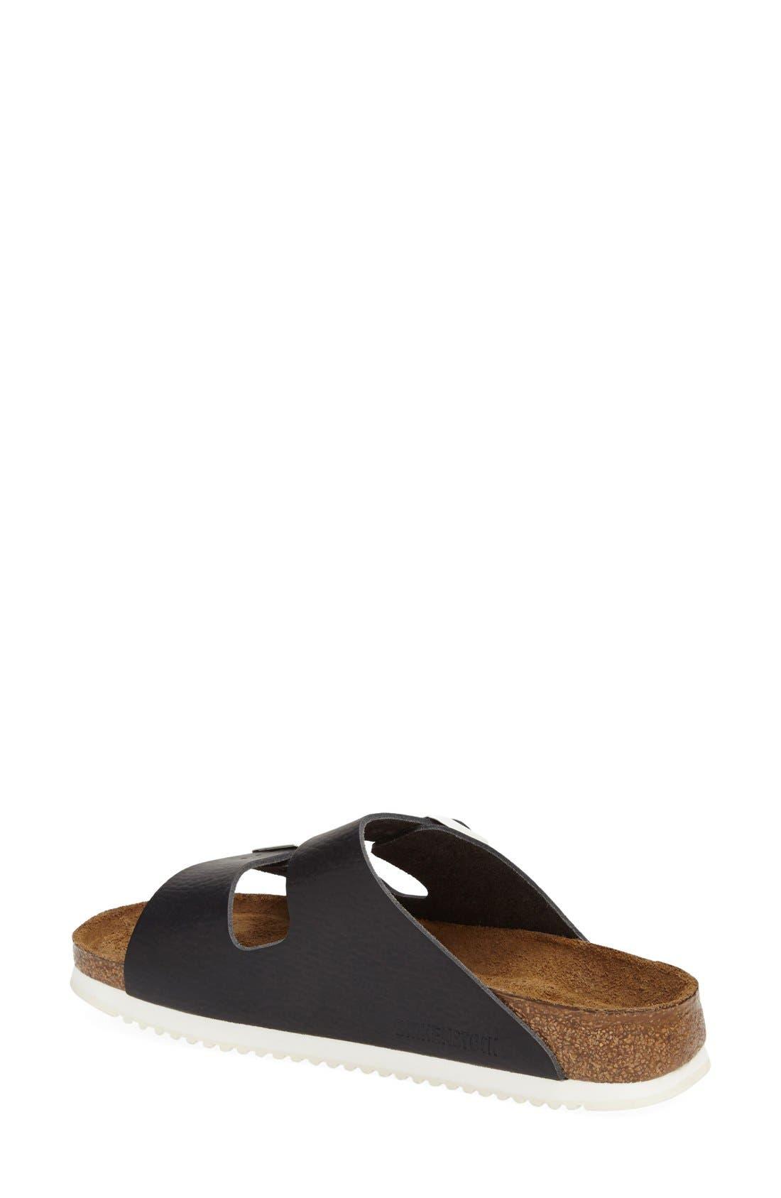 BIRKENSTOCK,                             'Arizona' Leather Double Band Footbed Sandal,                             Alternate thumbnail 3, color,                             001