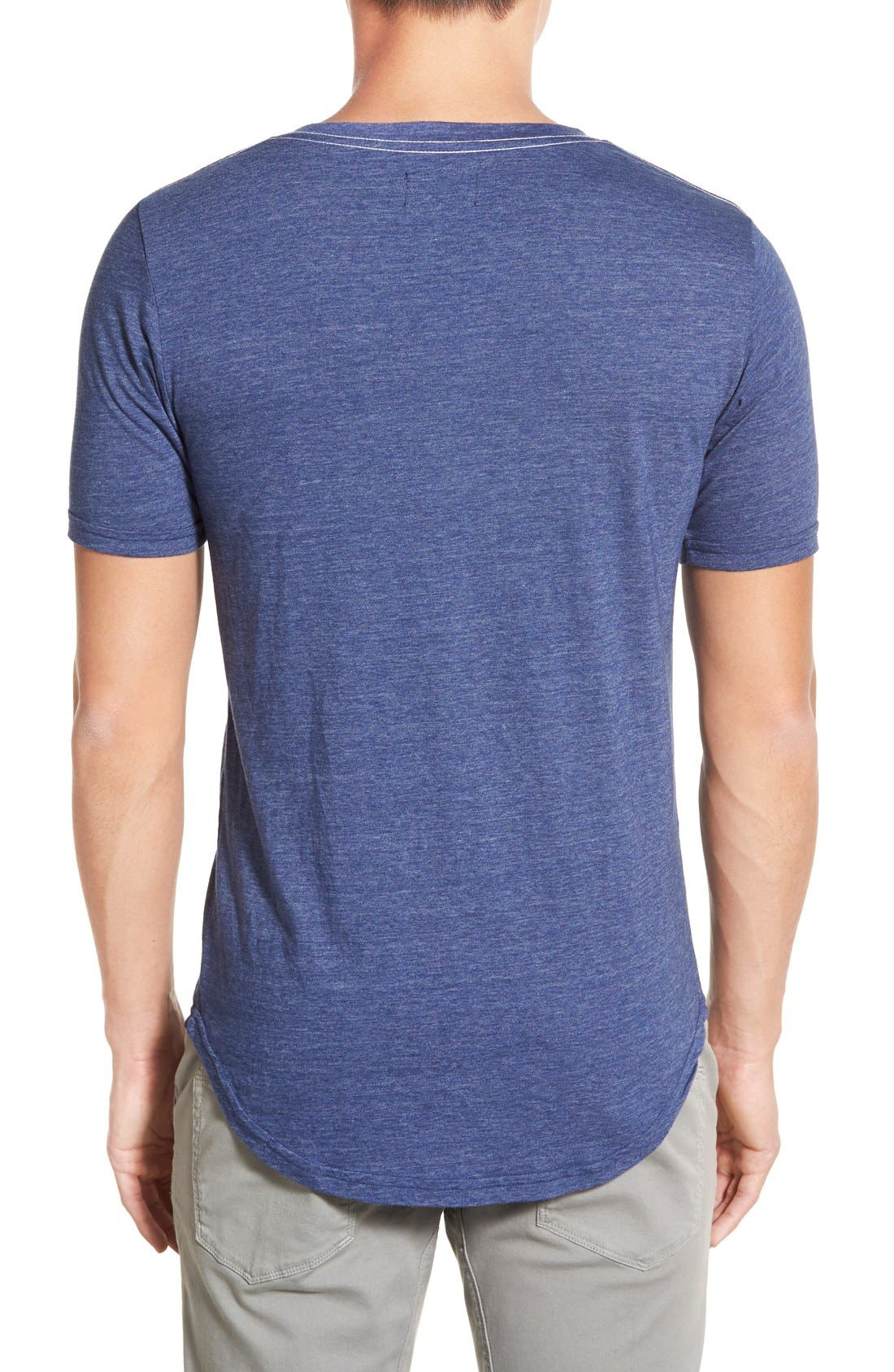 Scallop Triblend V-Neck T-Shirt,                             Alternate thumbnail 65, color,