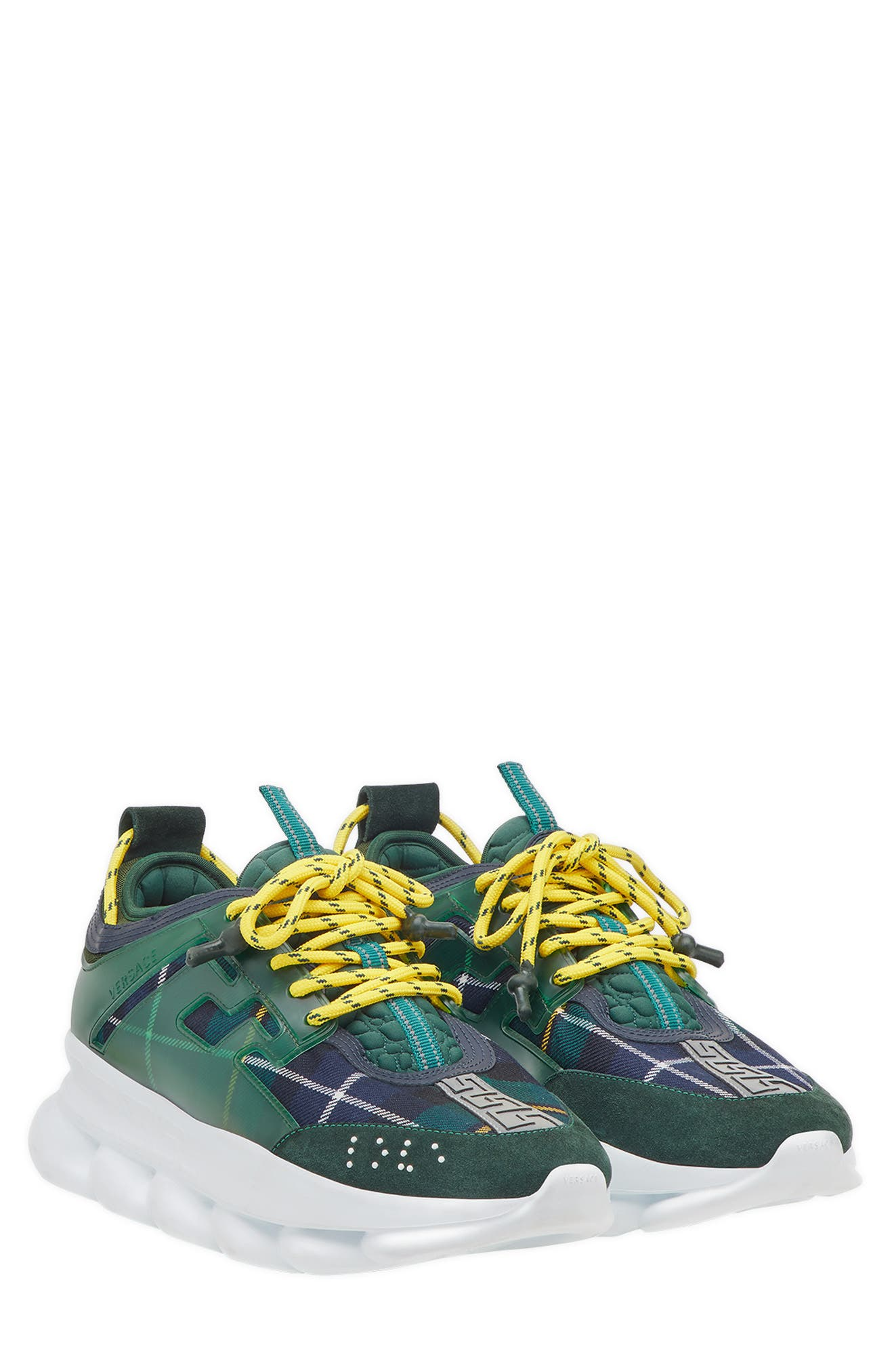 Chain Reaction Sneaker,                         Main,                         color, VERDE/ GIALLO